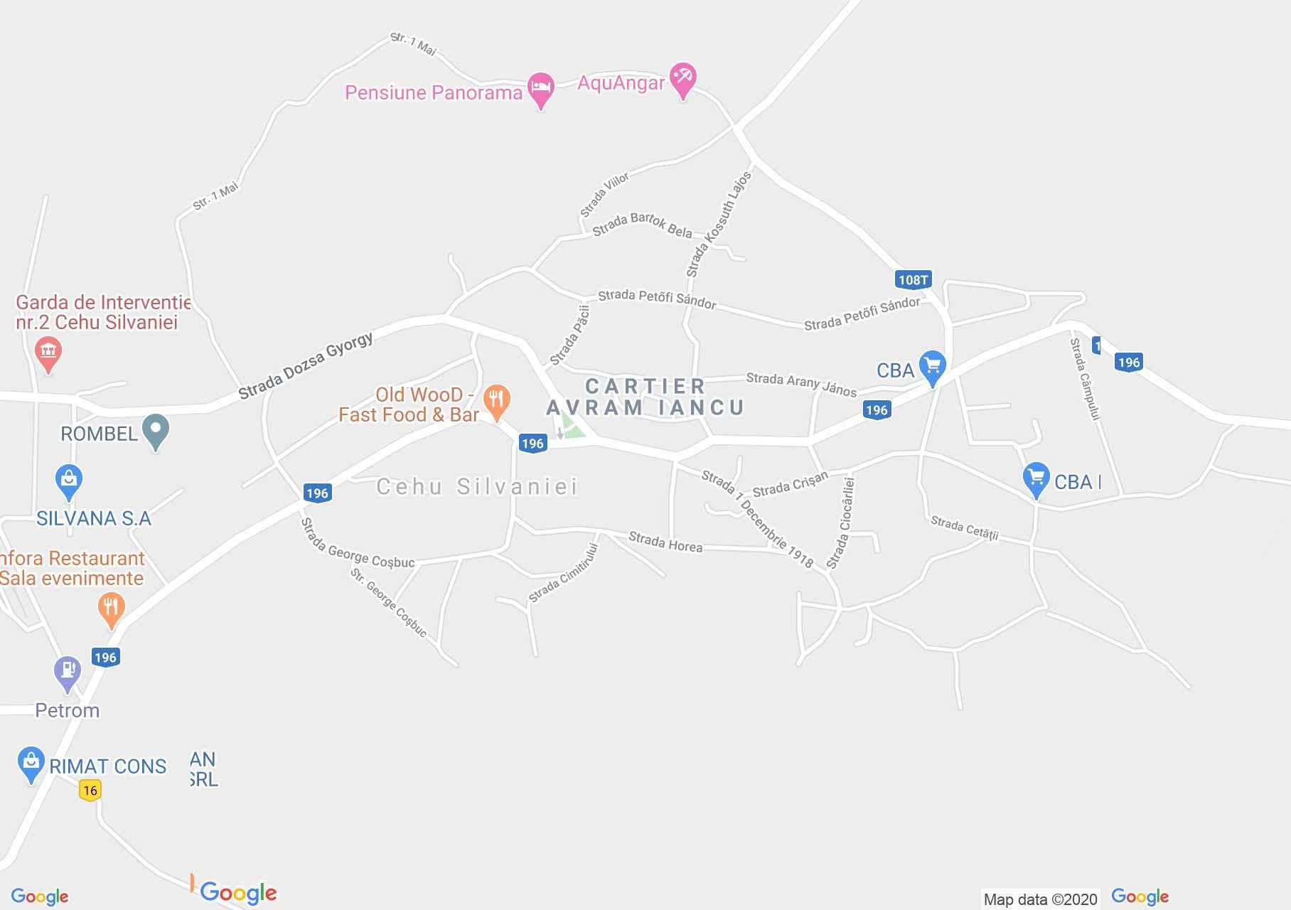 Cehu Silvaniei, Interactive tourist map