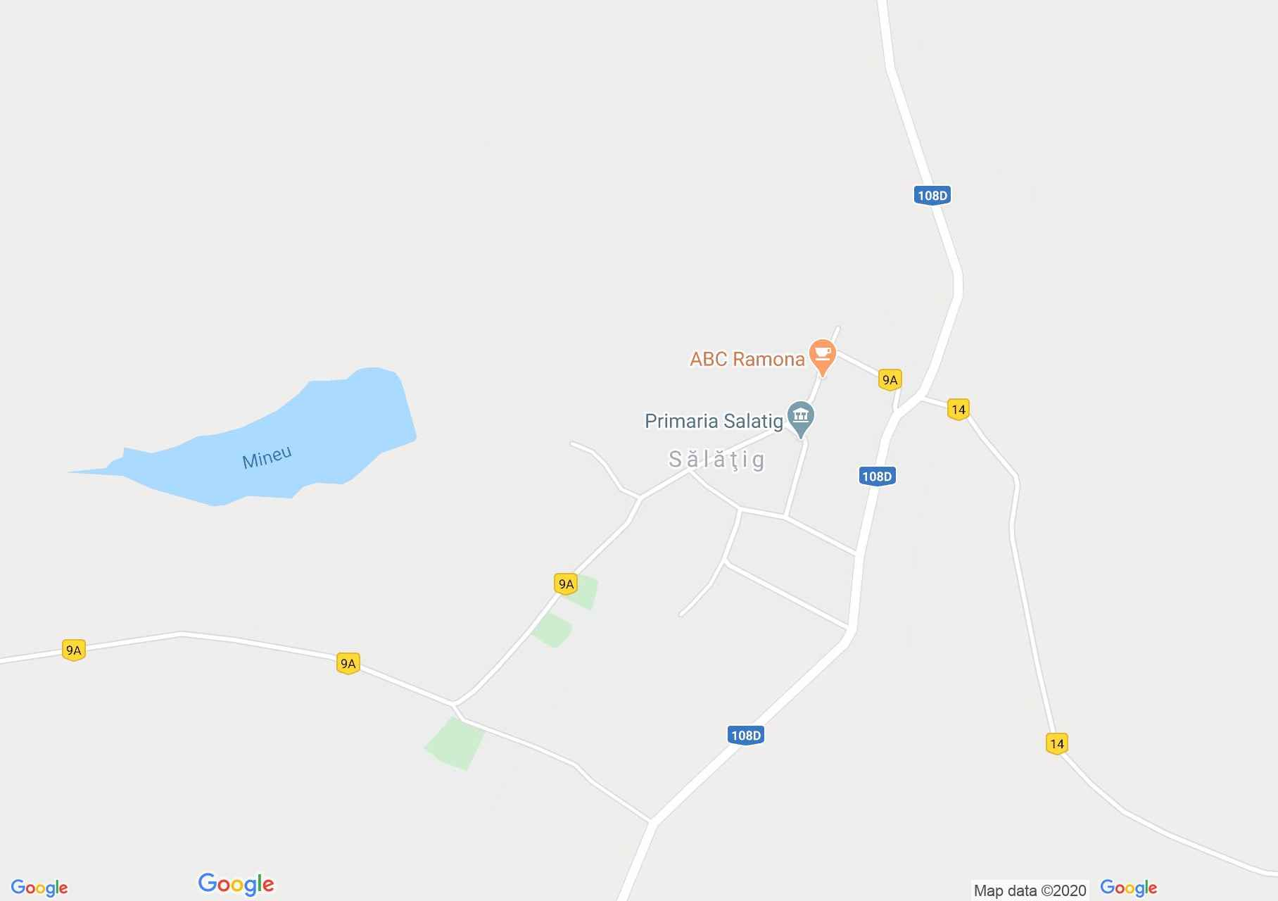 Sălaţig, Harta turistică interactivă