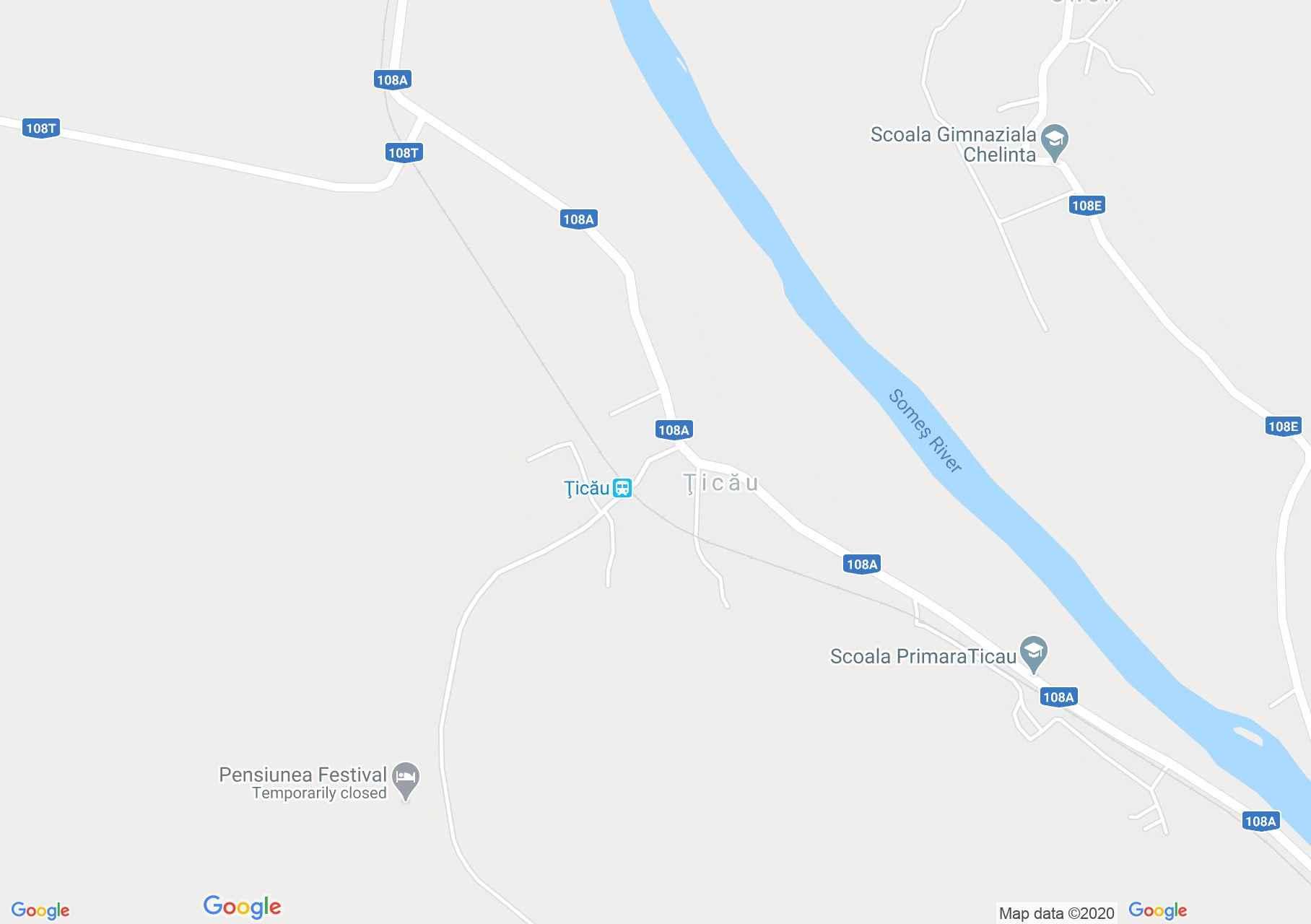 Ţicău, Harta turistică interactivă