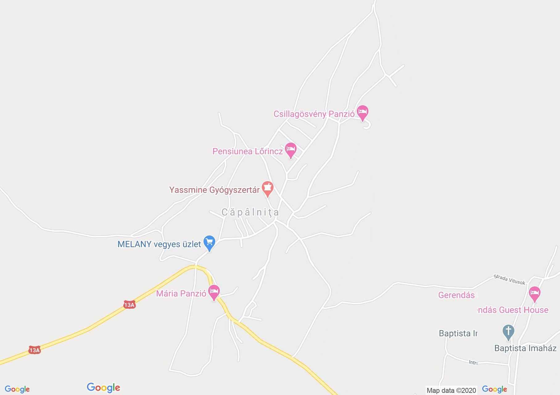 Căpâlniţa, Harta turistică interactivă