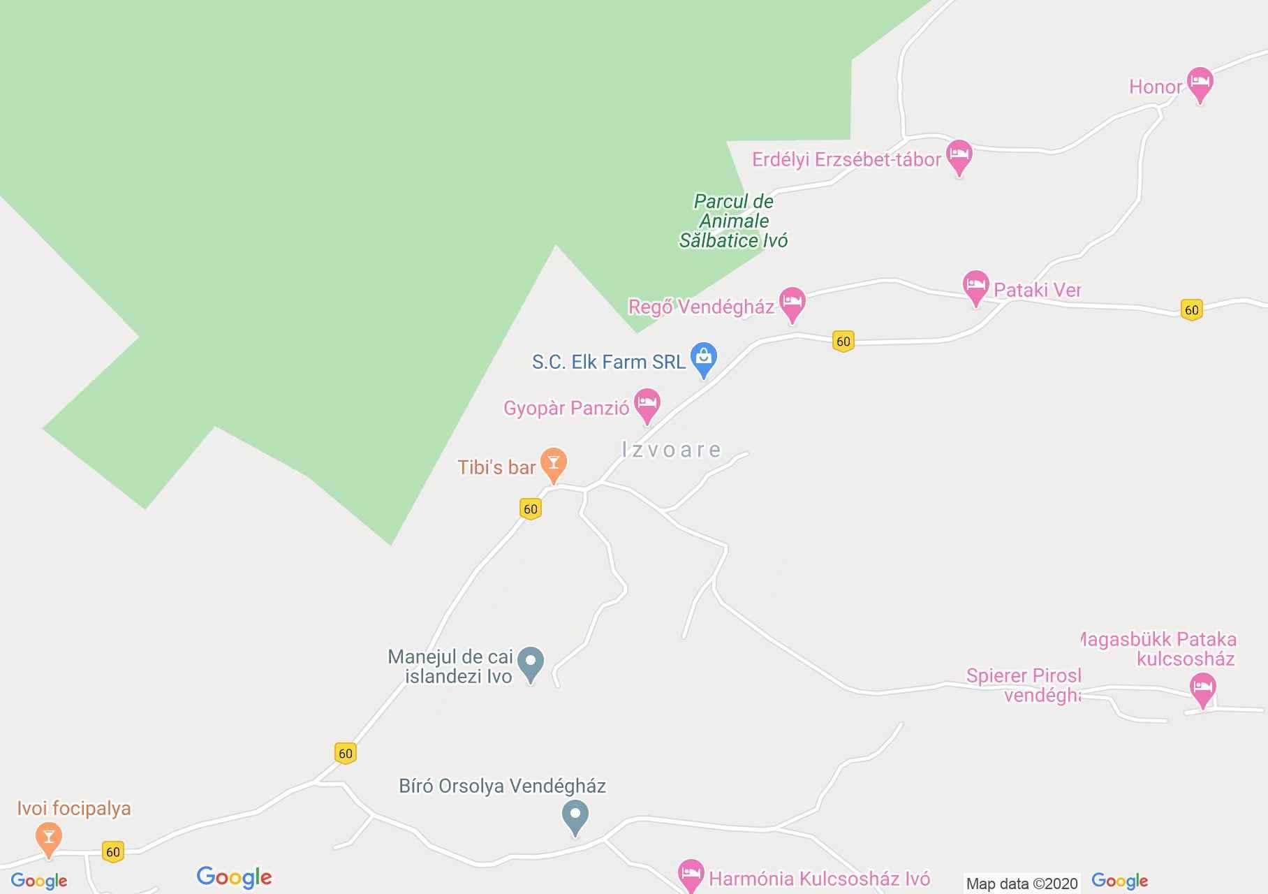 Ivó interaktív turista térképe.