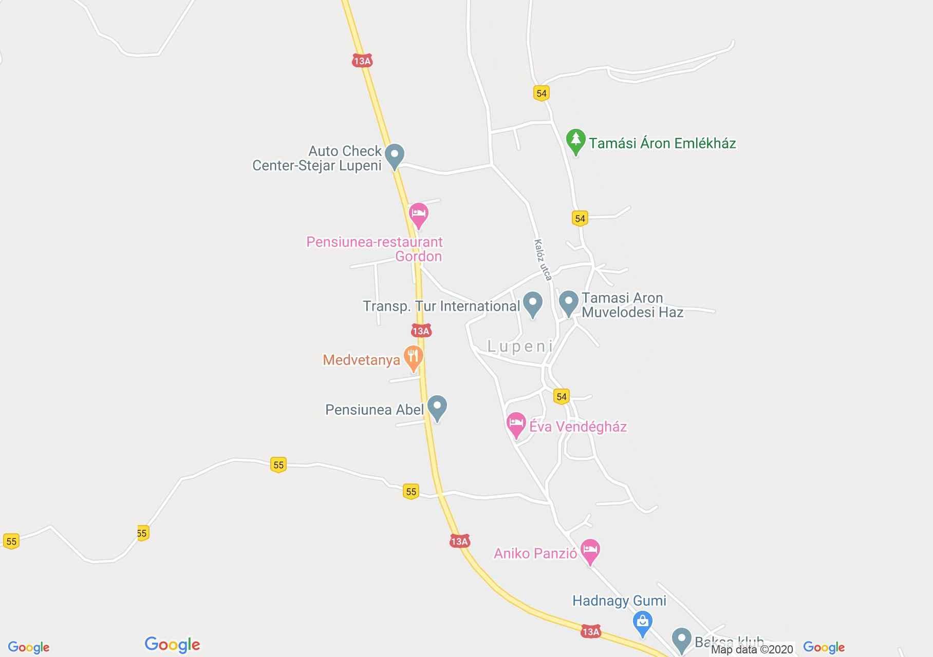Lupeni, Interactive tourist map