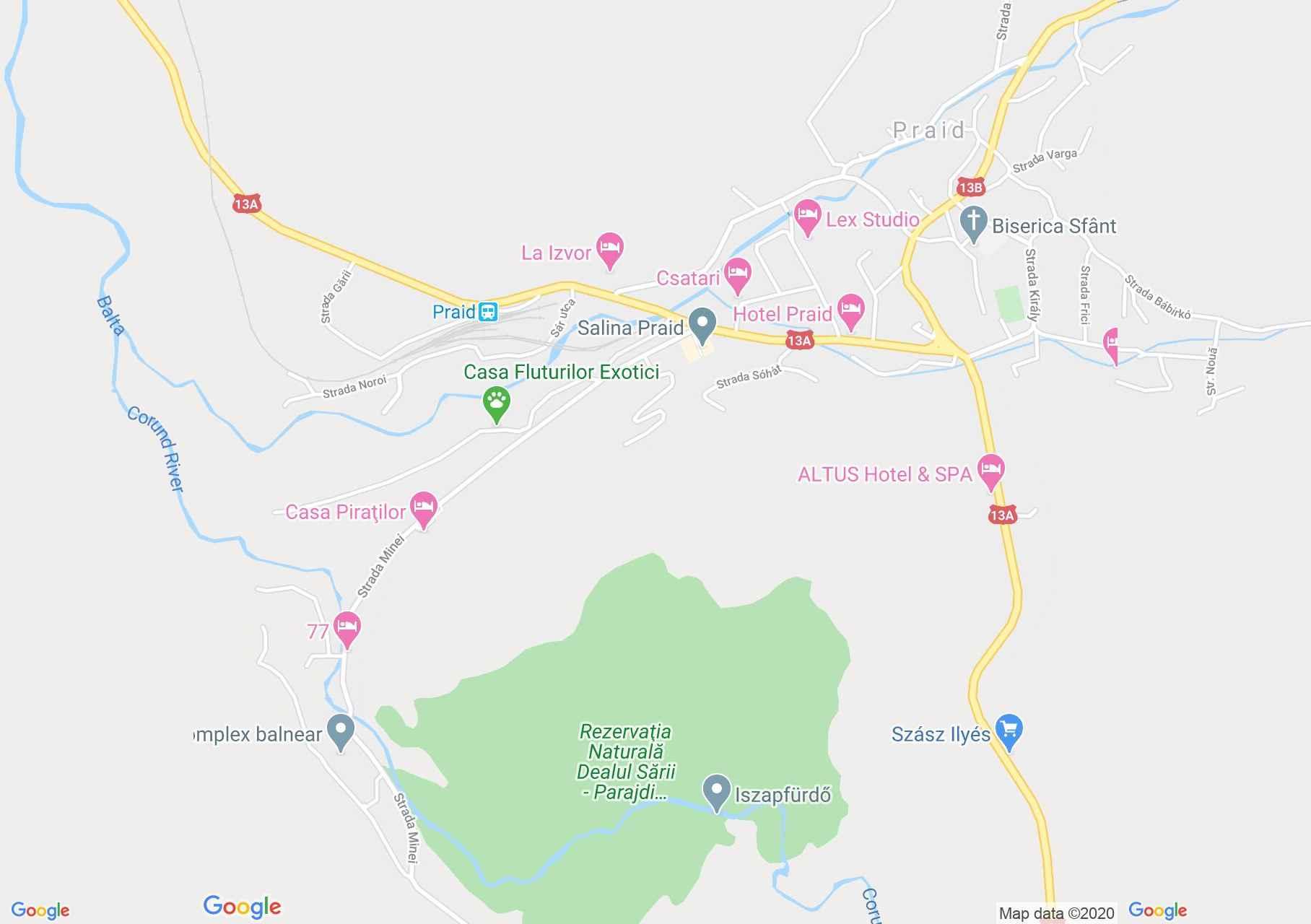 Praid, Harta turistică interactivă