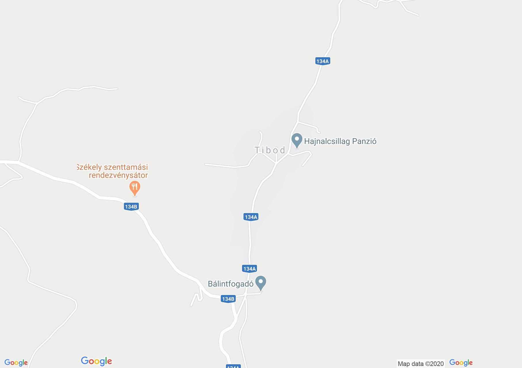 Tibod, Harta turistică interactivă