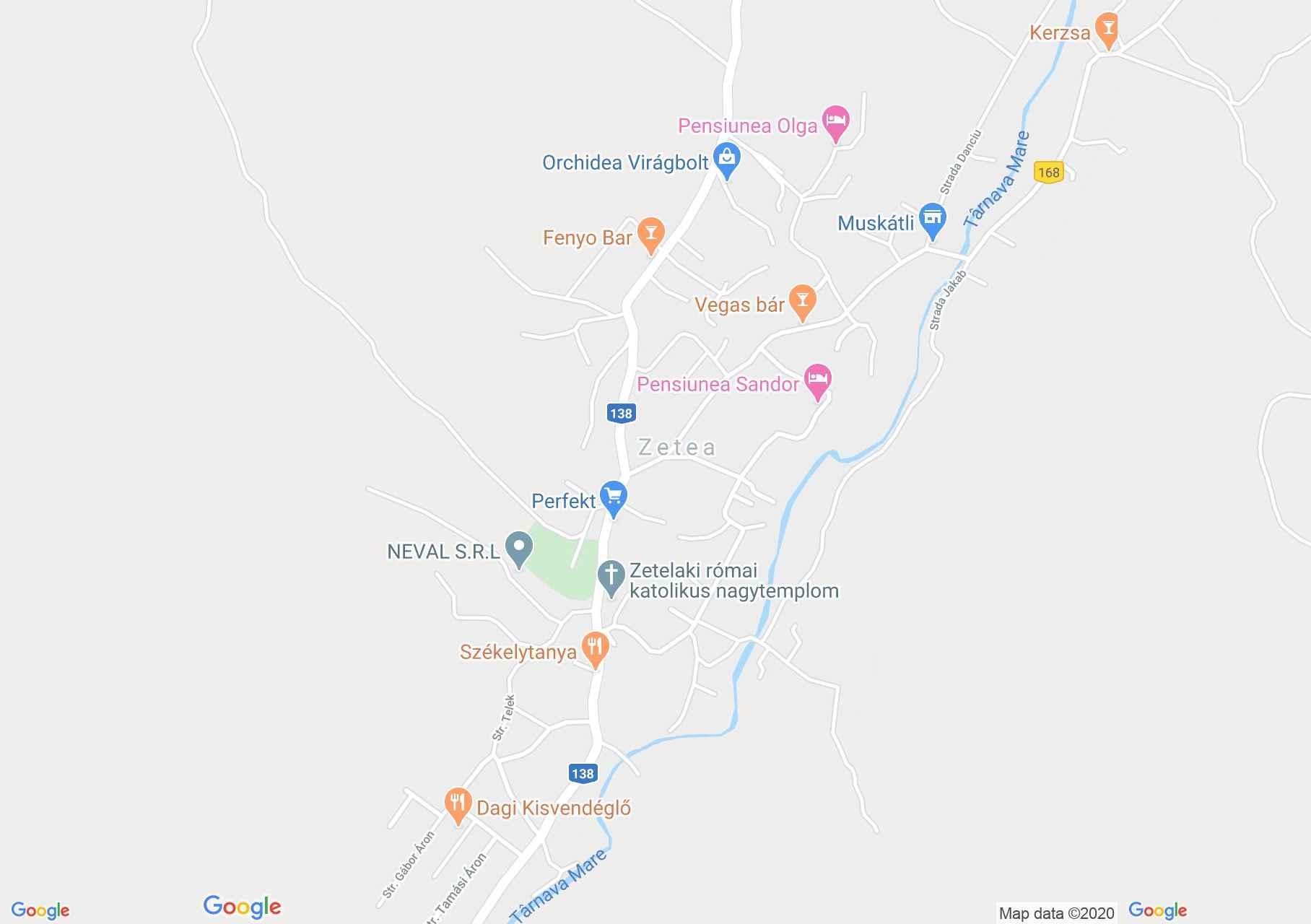 Zetea, Harta turistică interactivă