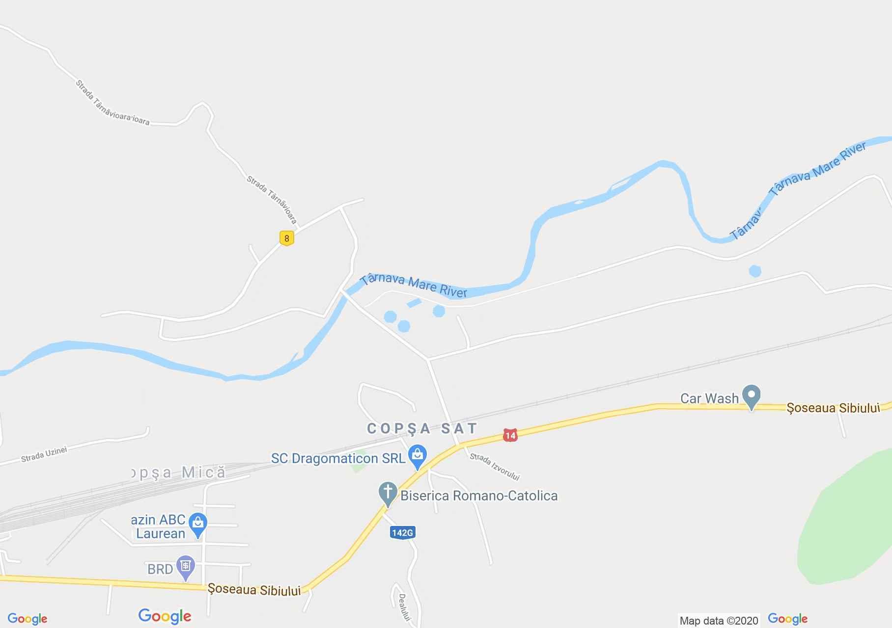 Copşa Mică, Interactive tourist map