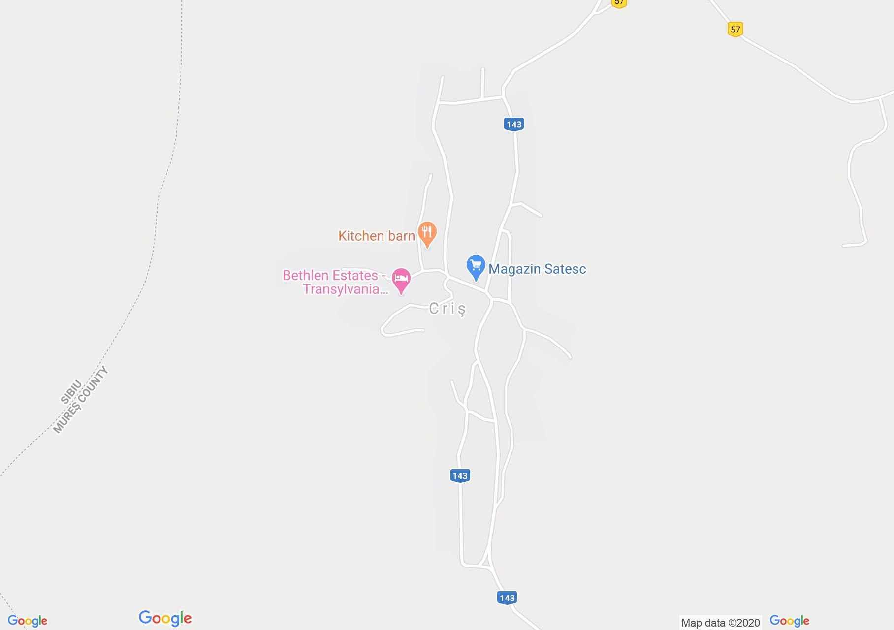 Criş, Harta turistică interactivă