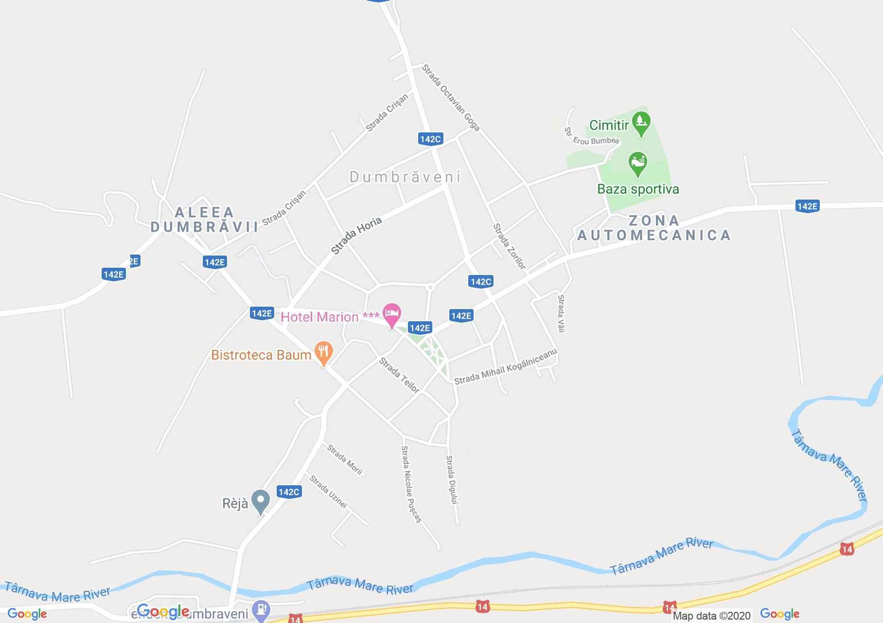 Dumbrăveni, Interactive tourist map