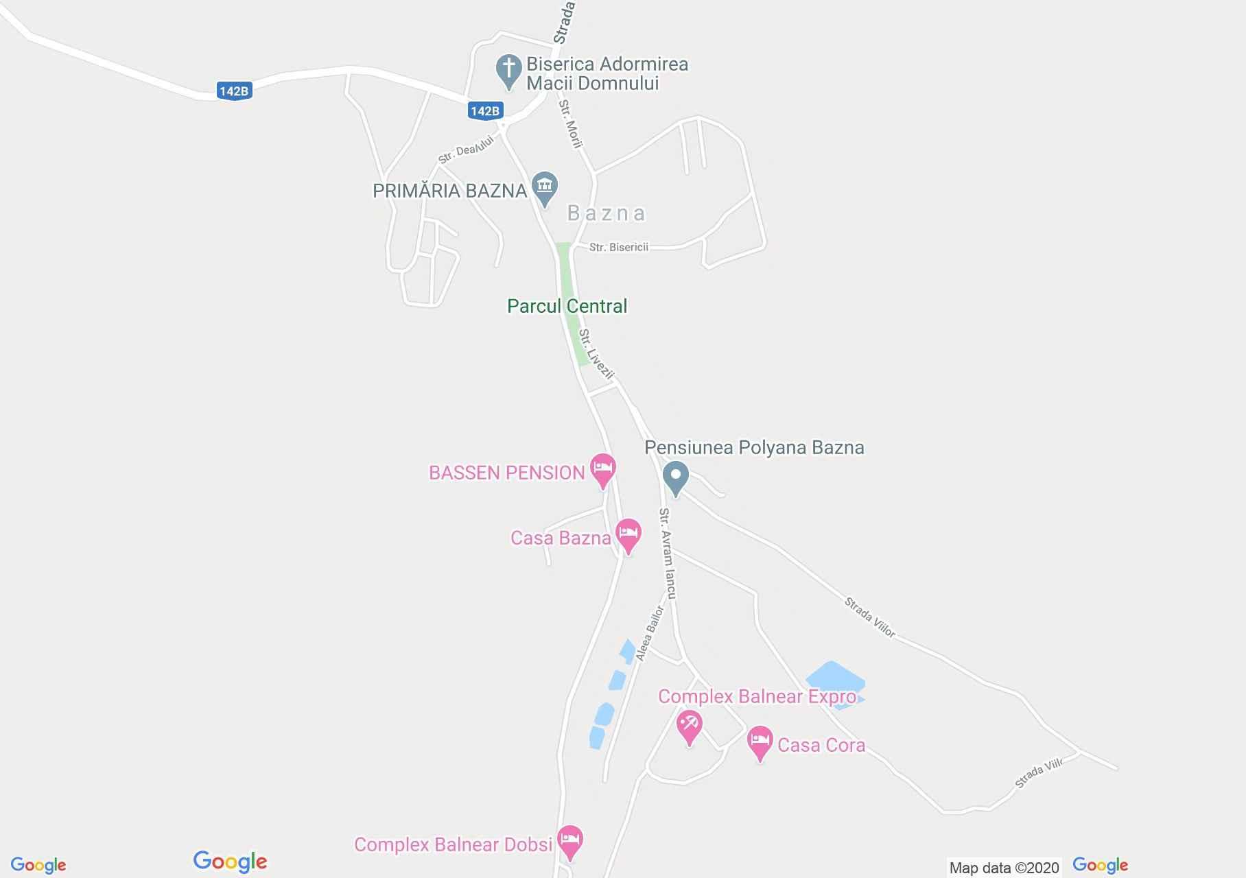 Bázna interaktív turista térképe.