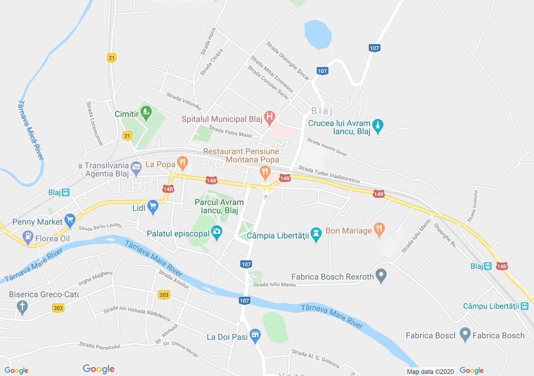 Blaj, Harta turistică interactivă