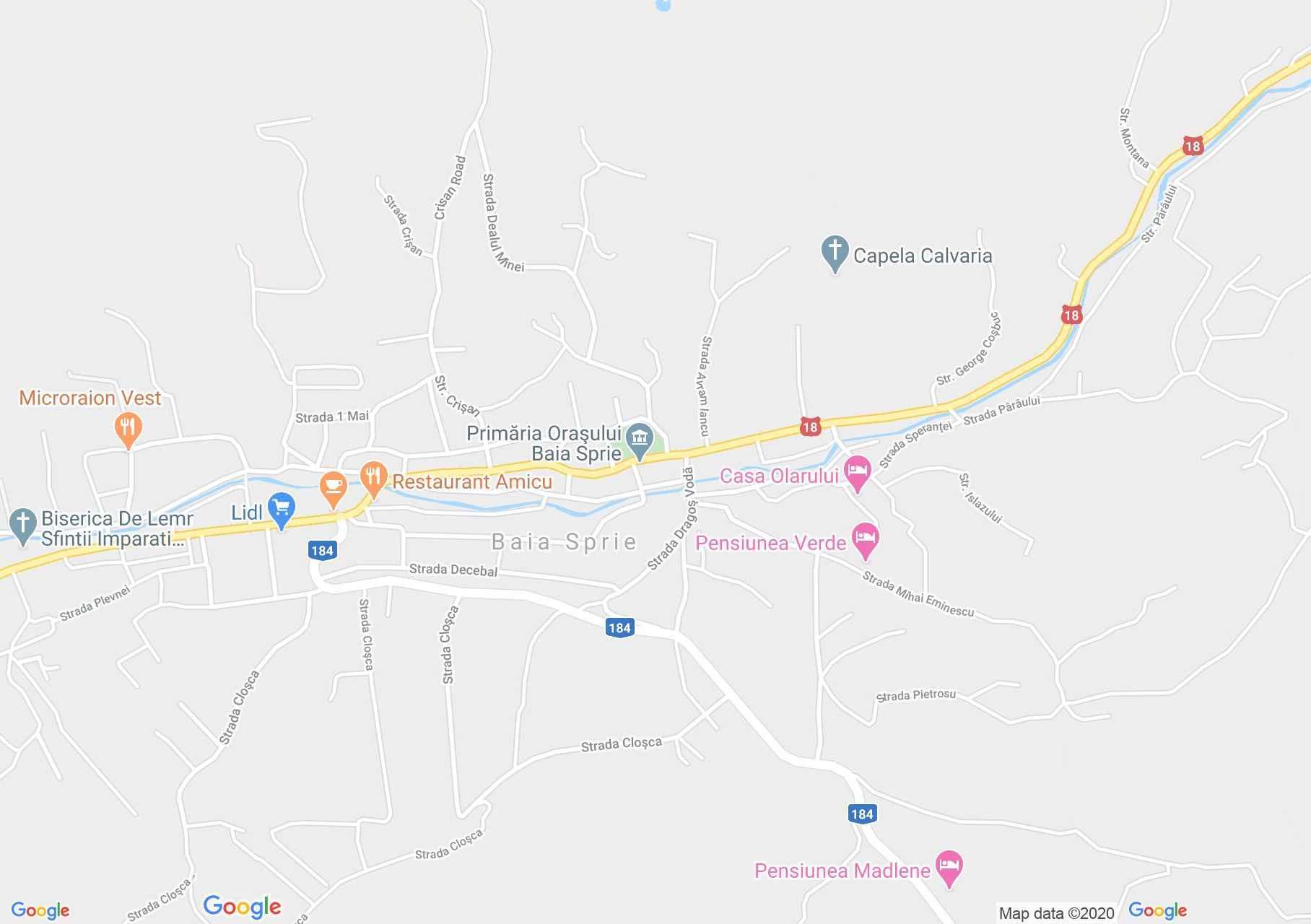 Baia Sprie, Harta turistică interactivă