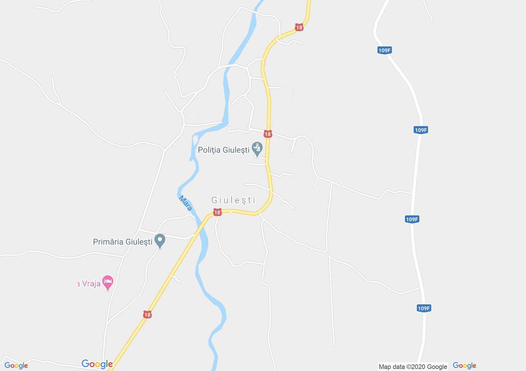 Giuleşti, Harta turistică interactivă