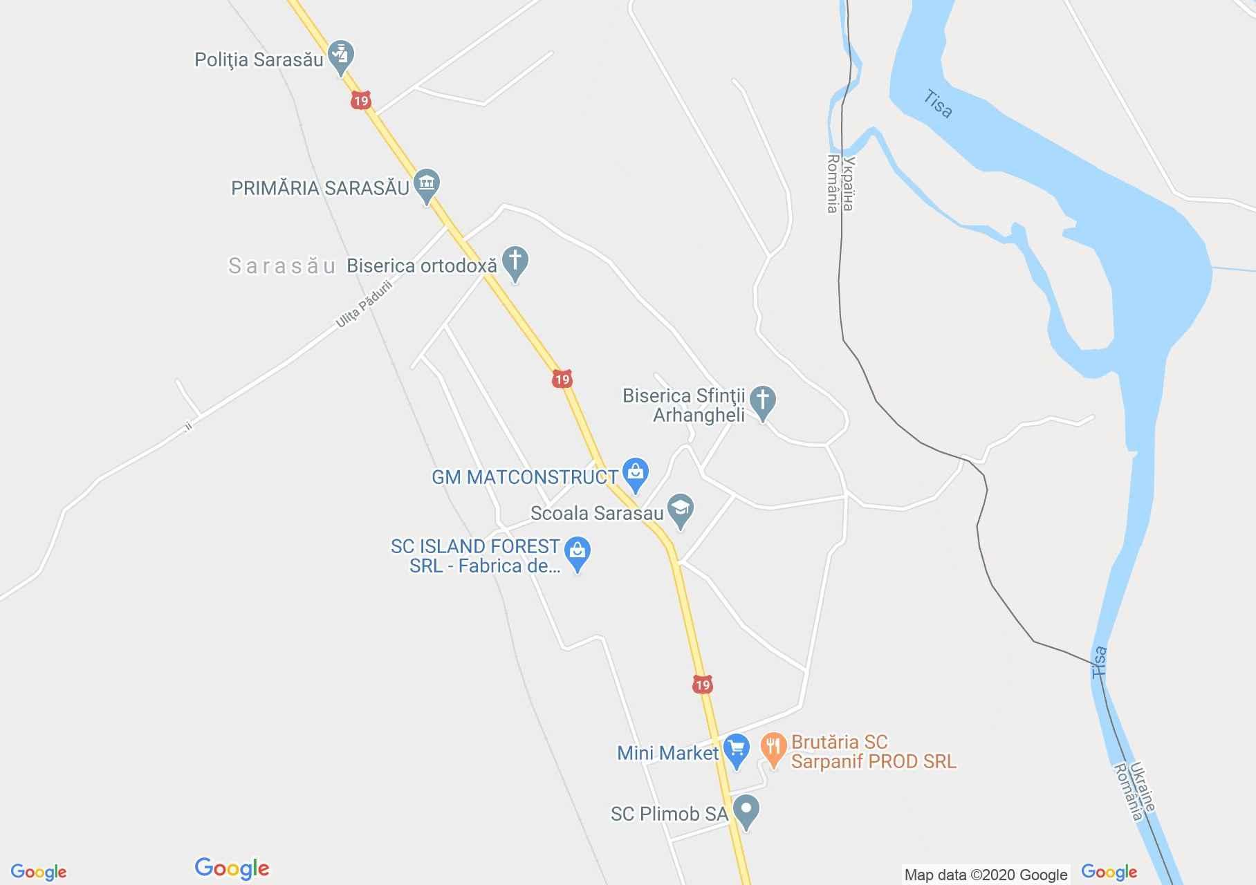 Sarasău, Harta turistică interactivă