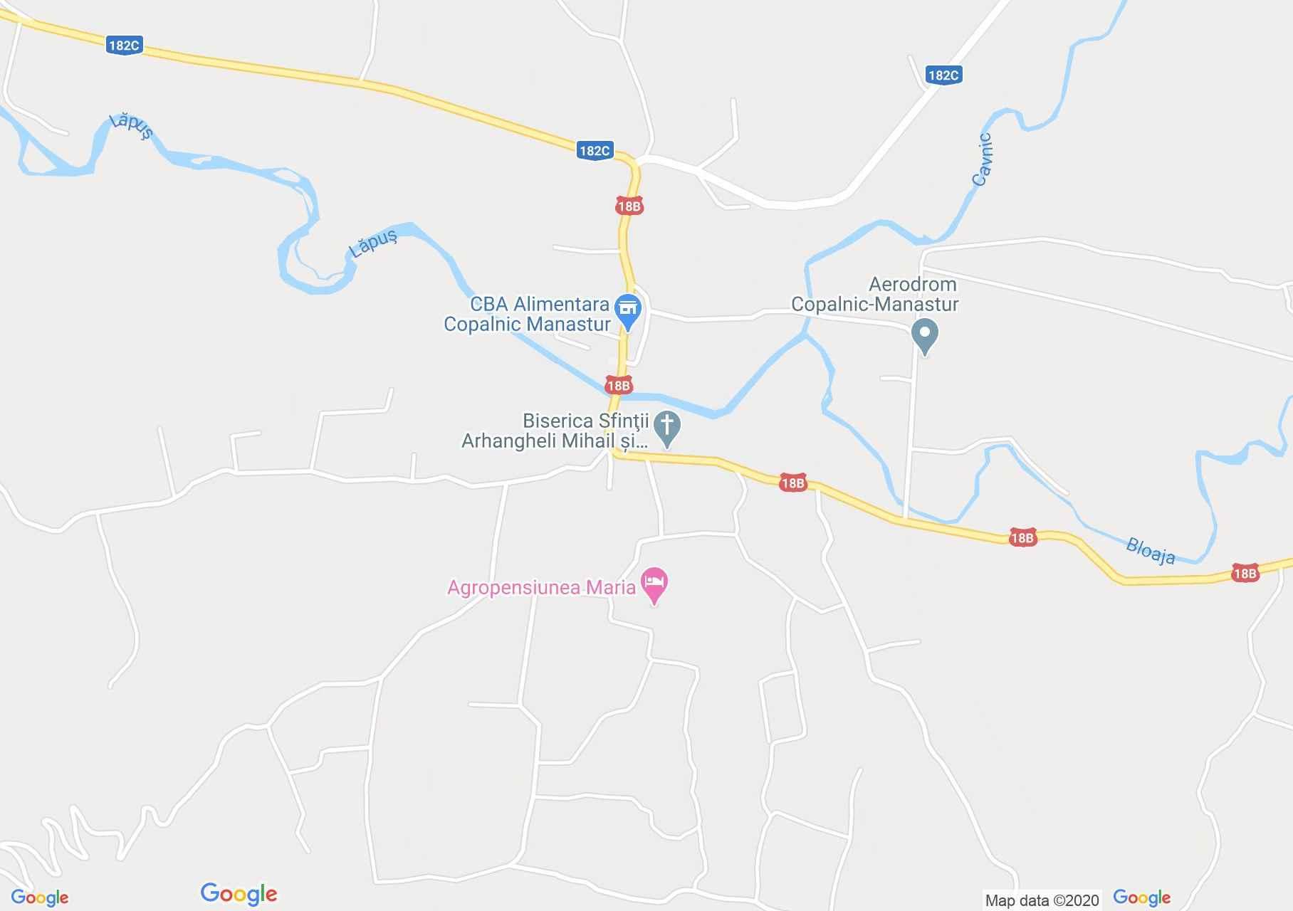 Copalnic-Mănăştur, Interactive tourist map