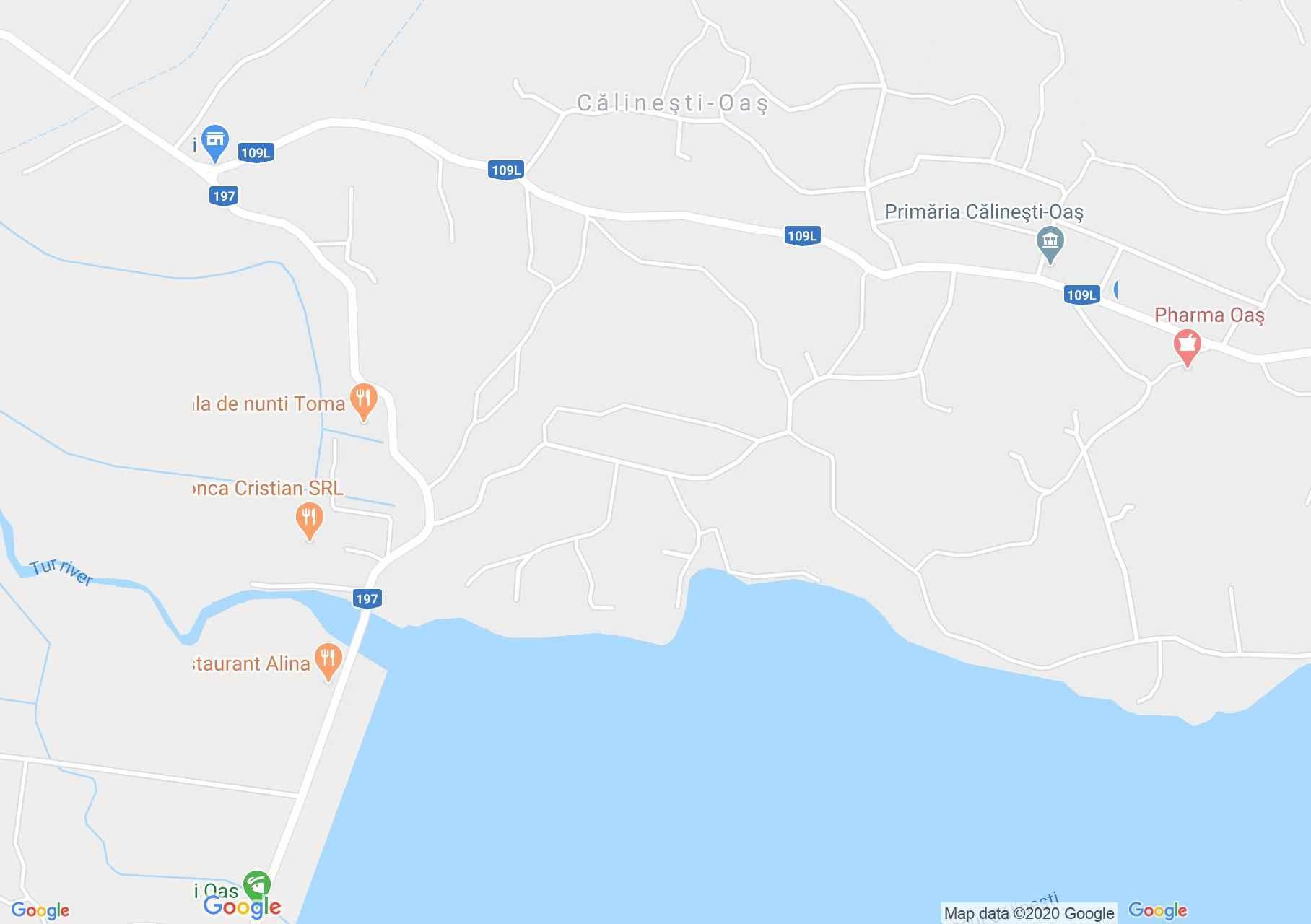 Călineşti Oaş, Harta turistică interactivă