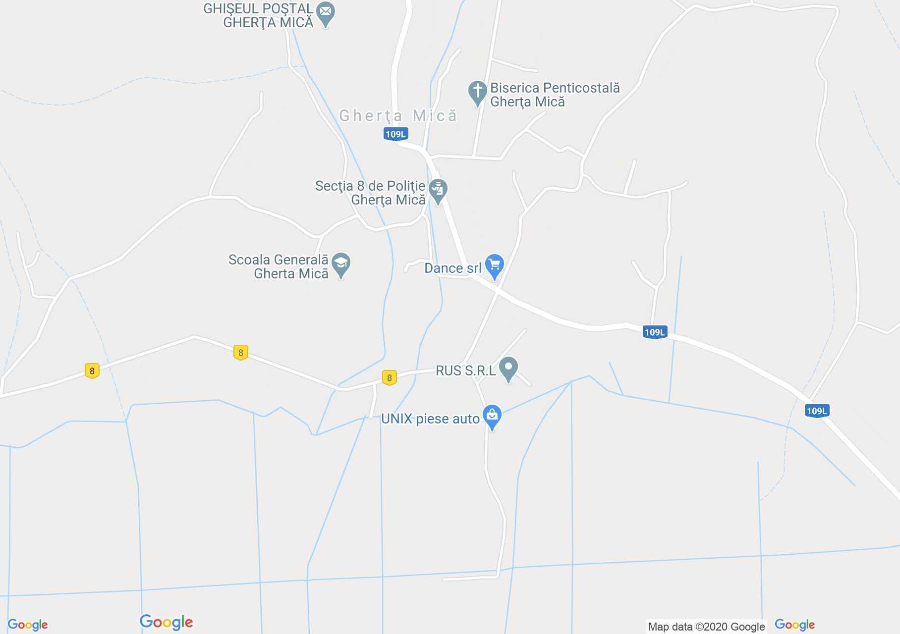 Gherţa Mică, Harta turistică interactivă