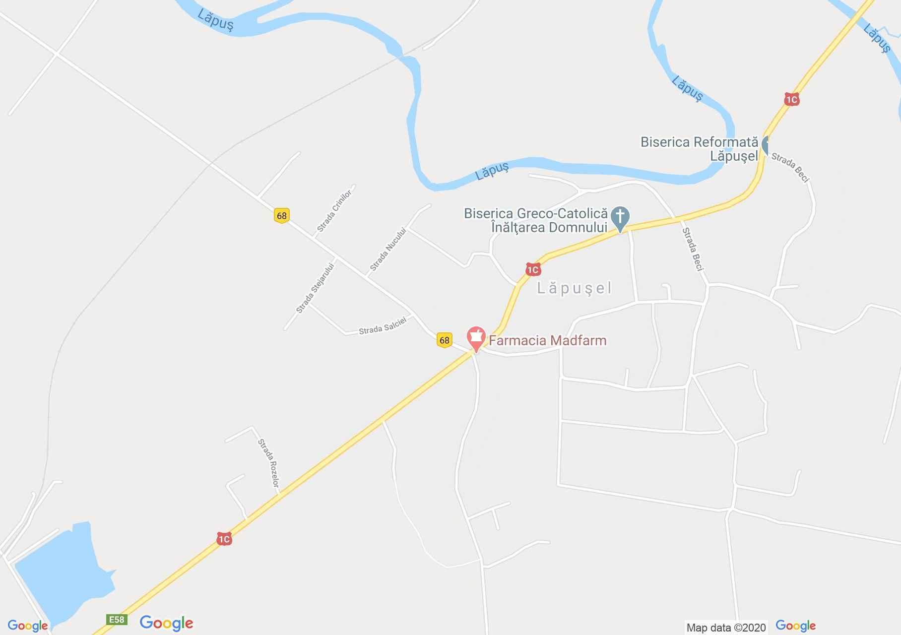Lăpuşel, Harta turistică interactivă