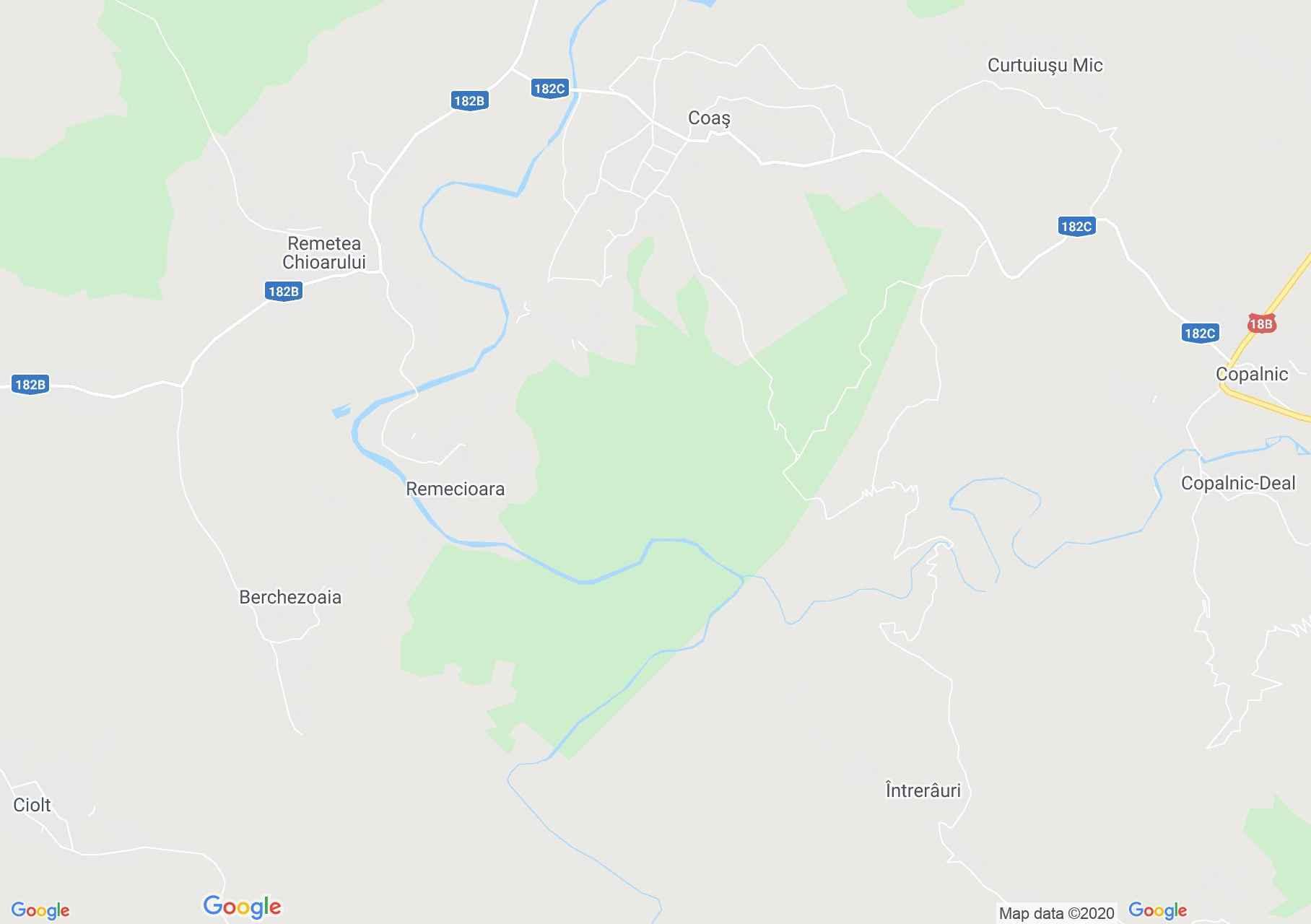 Remecioara, Harta turistică interactivă