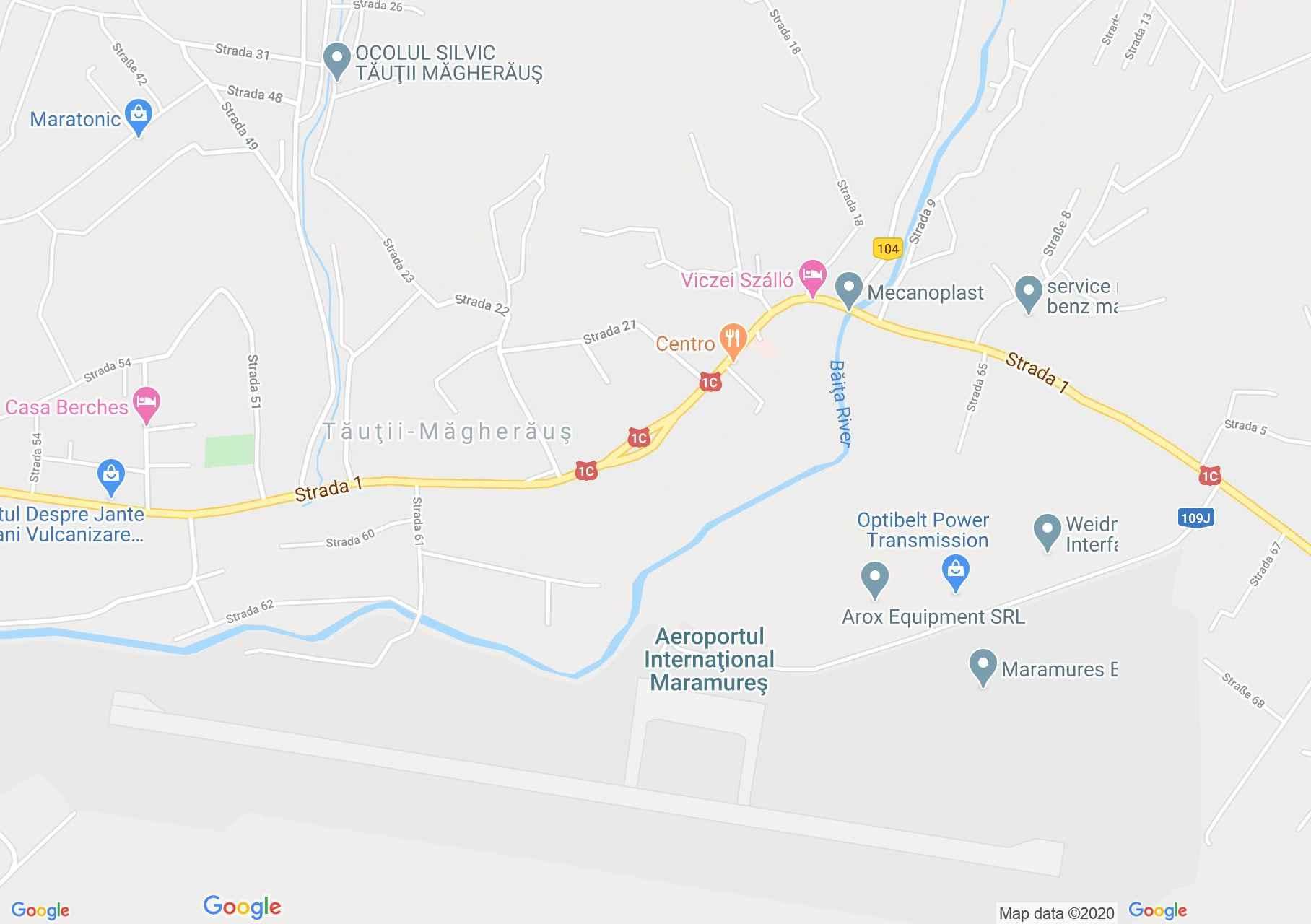 Tăuţii Măgherăuş, Interactive tourist map