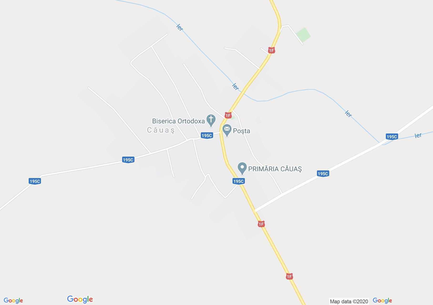 Căuaş, Harta turistică interactivă