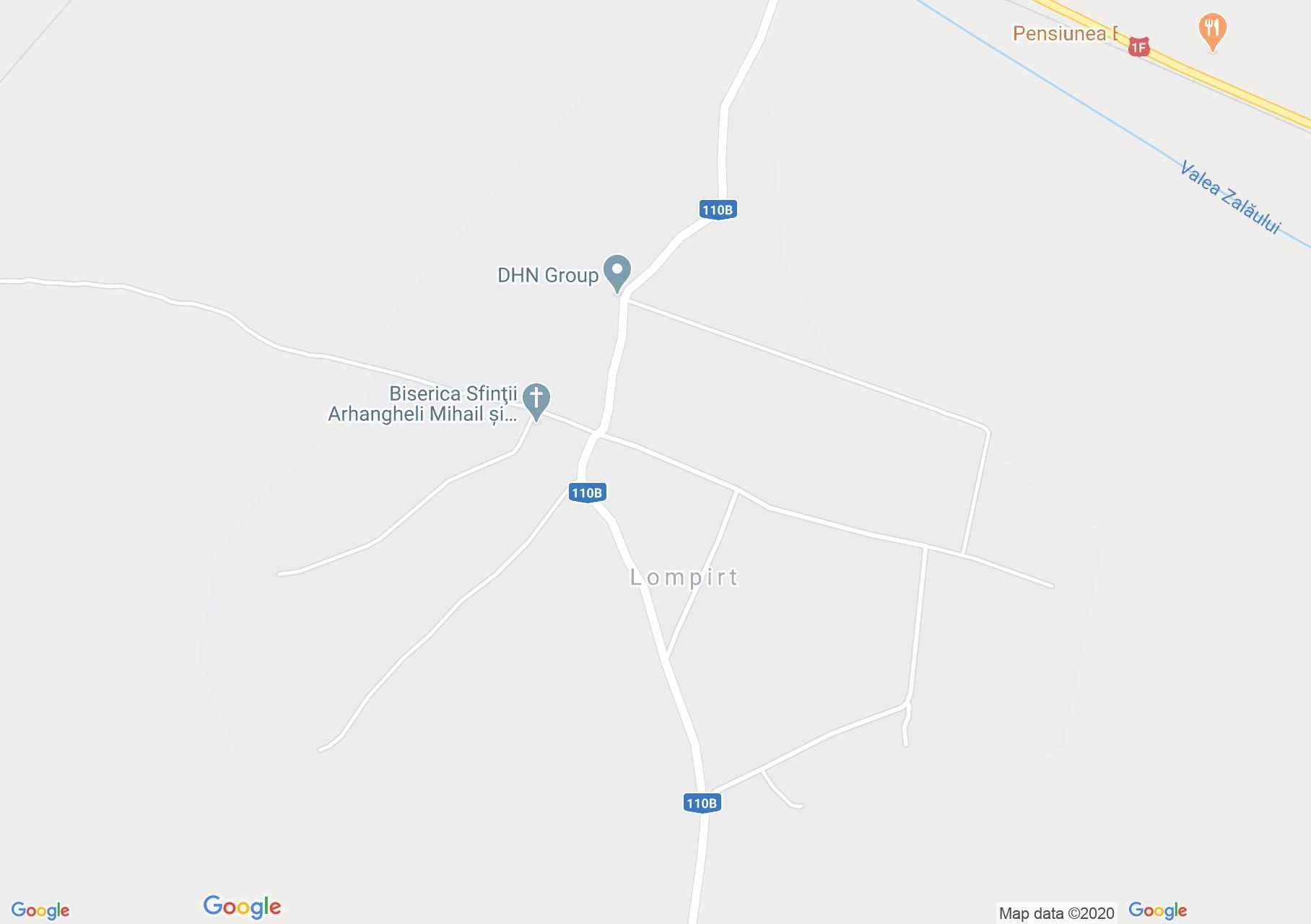 Szilágylompért interaktív turista térképe.