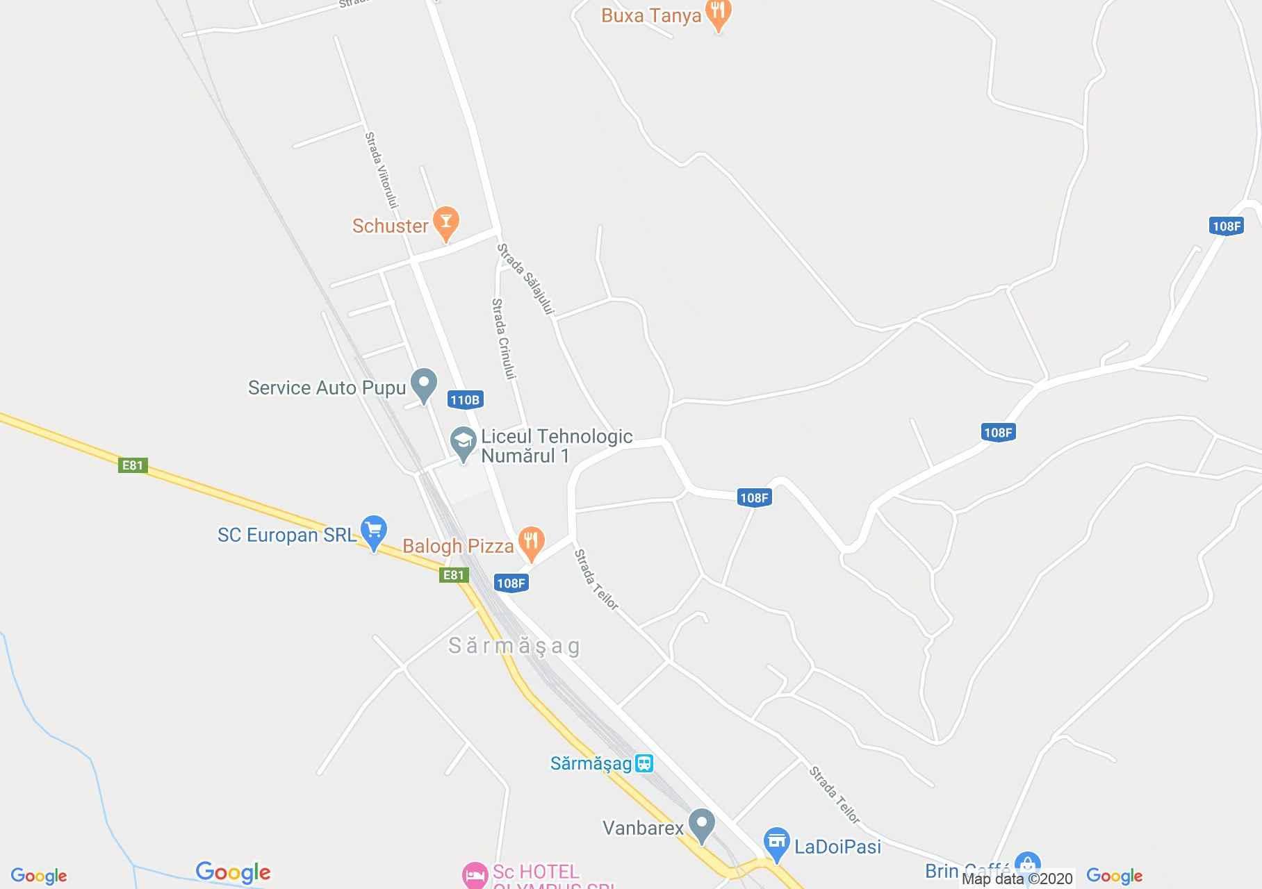 Şărmăşag, Interactive tourist map