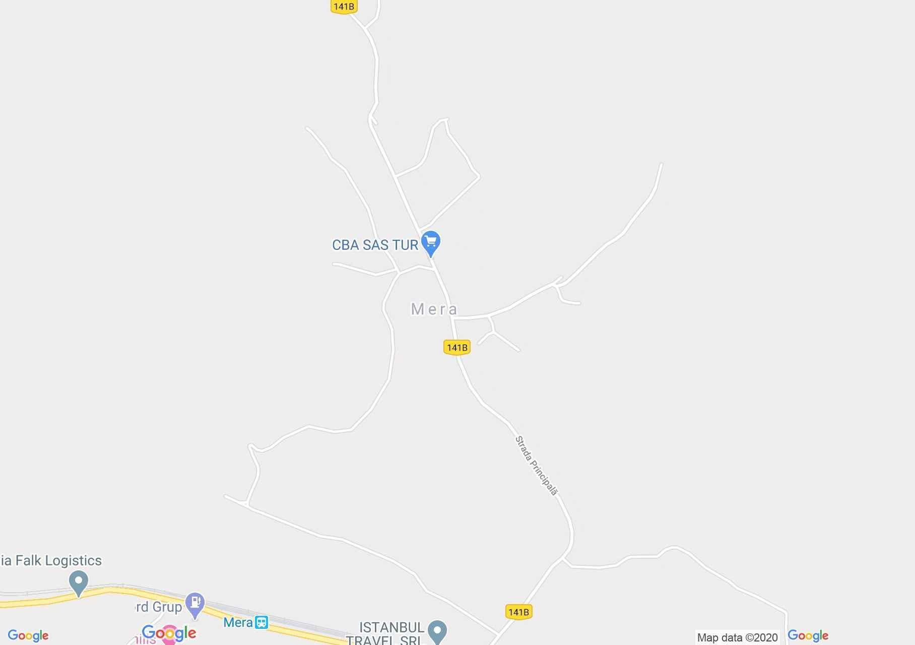 Mera, Harta turistică interactivă