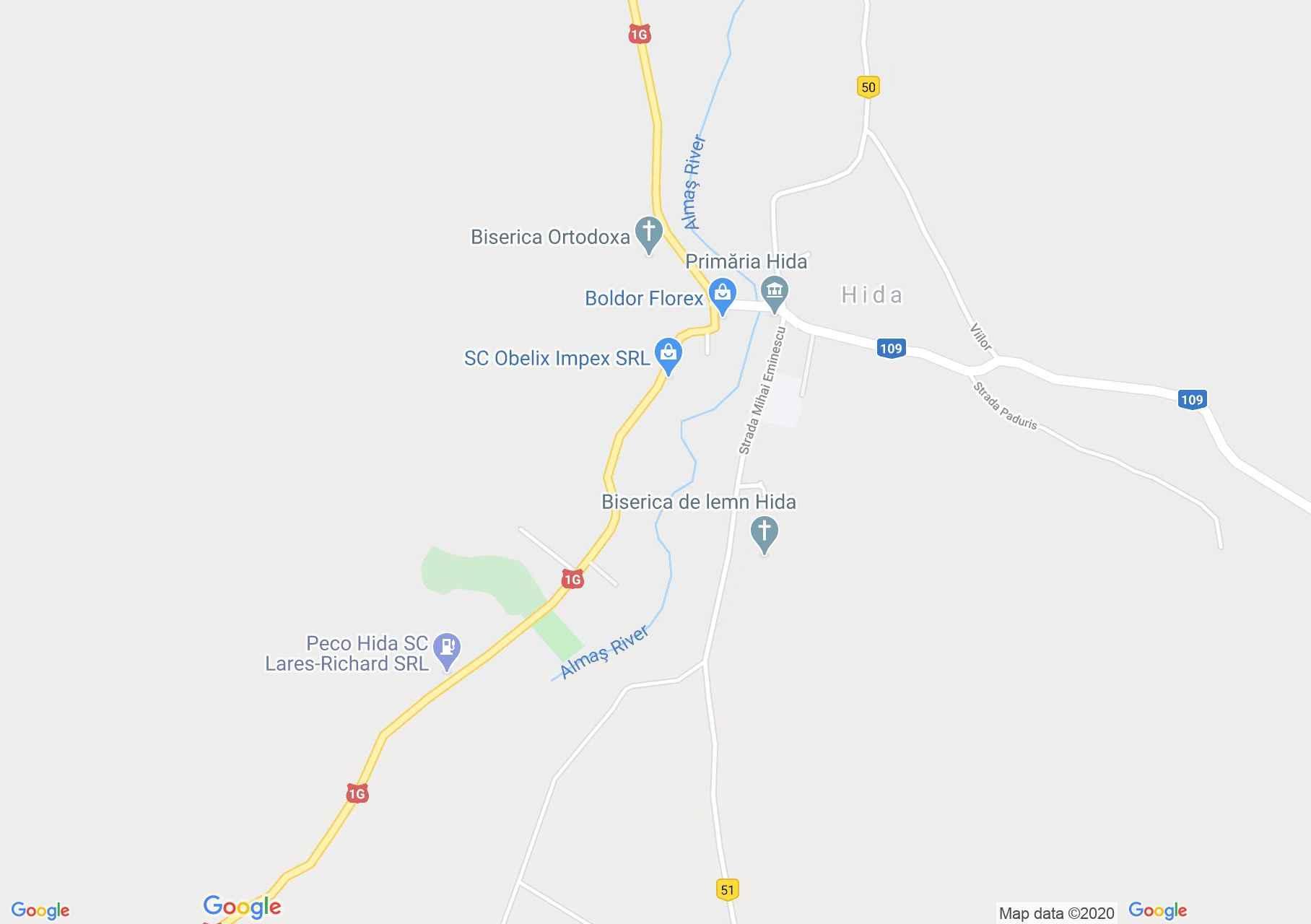 Hida, Harta turistică interactivă