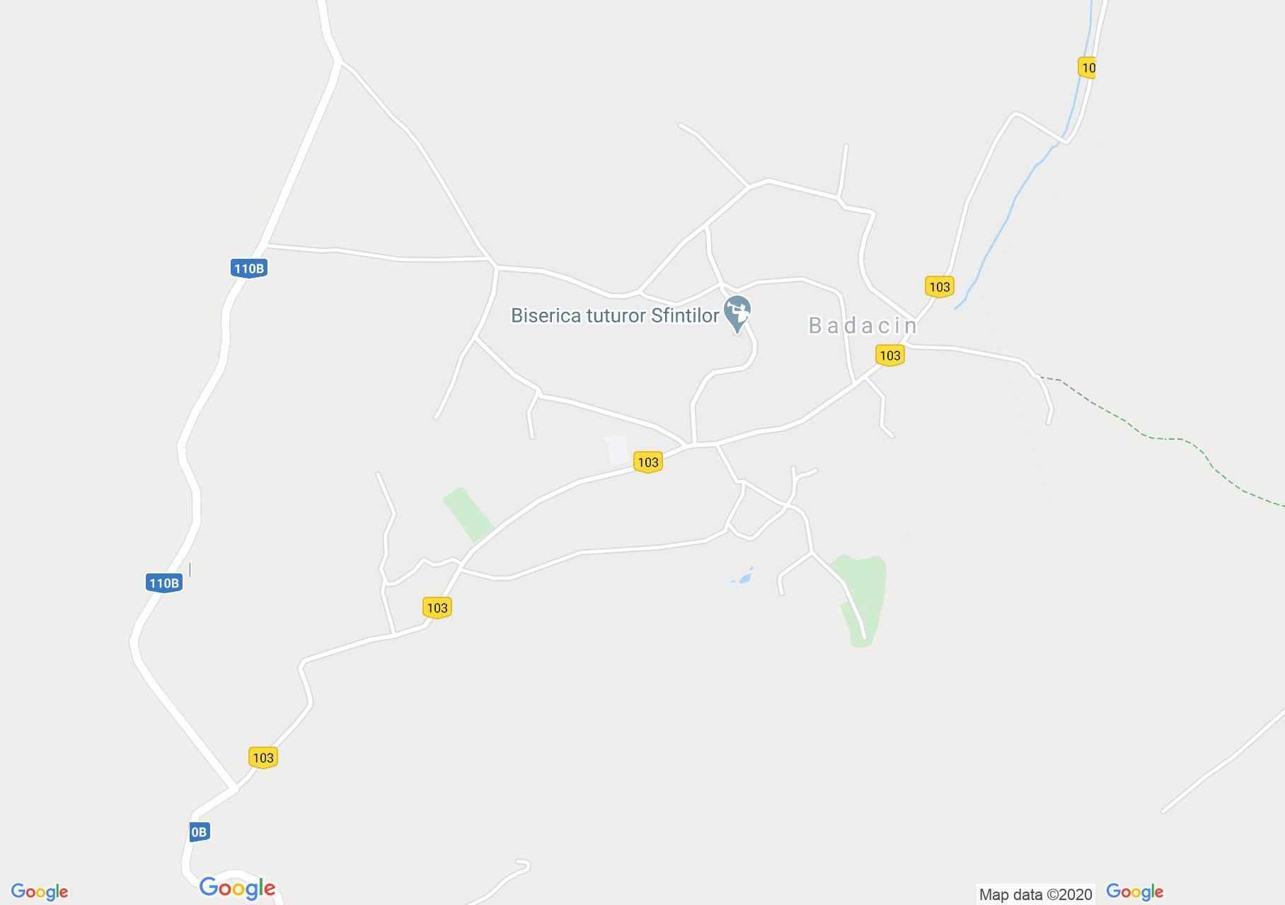 Bădăcin, Harta turistică interactivă