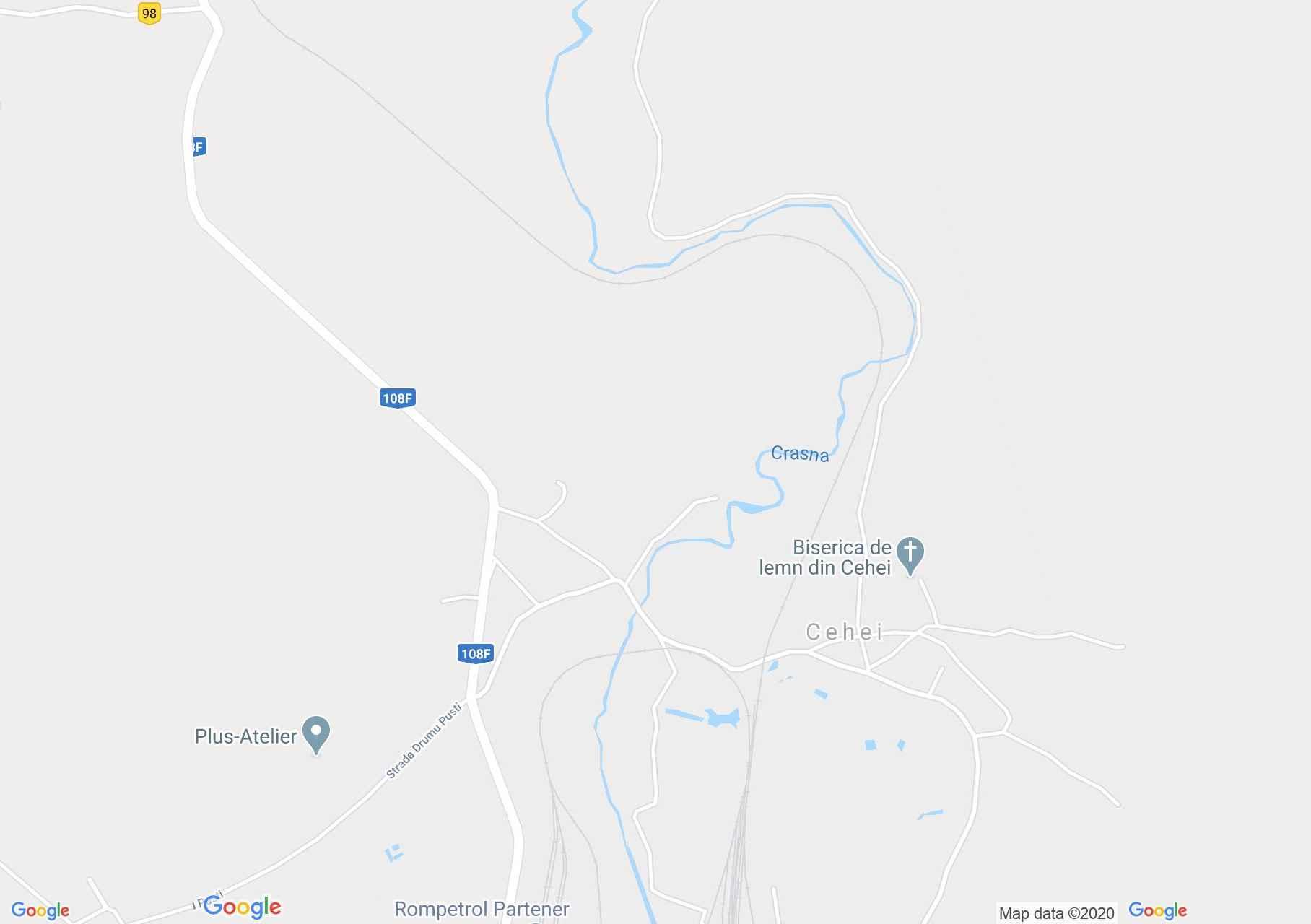 Cehei, Interactive tourist map