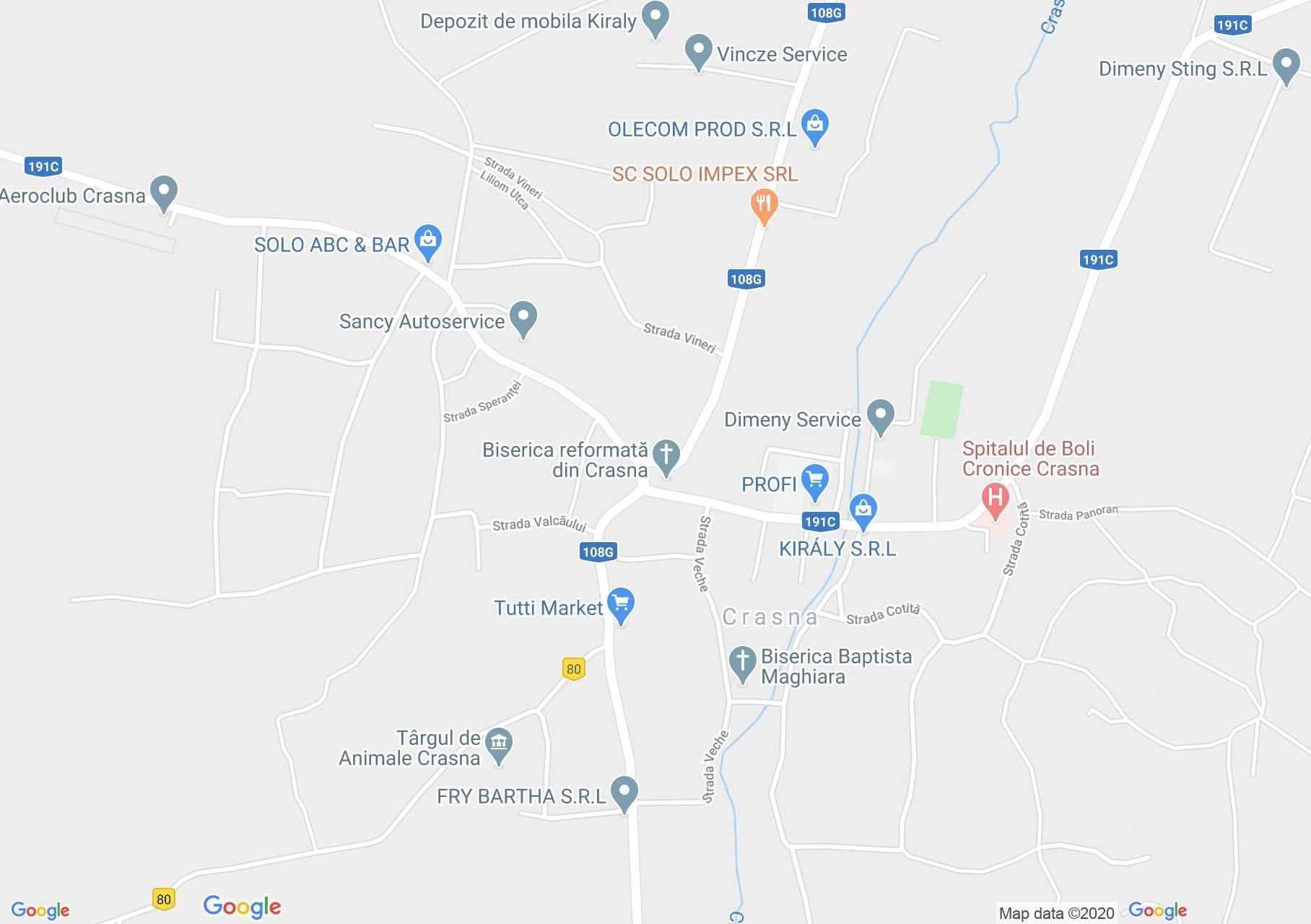 Crasna, Interactive tourist map