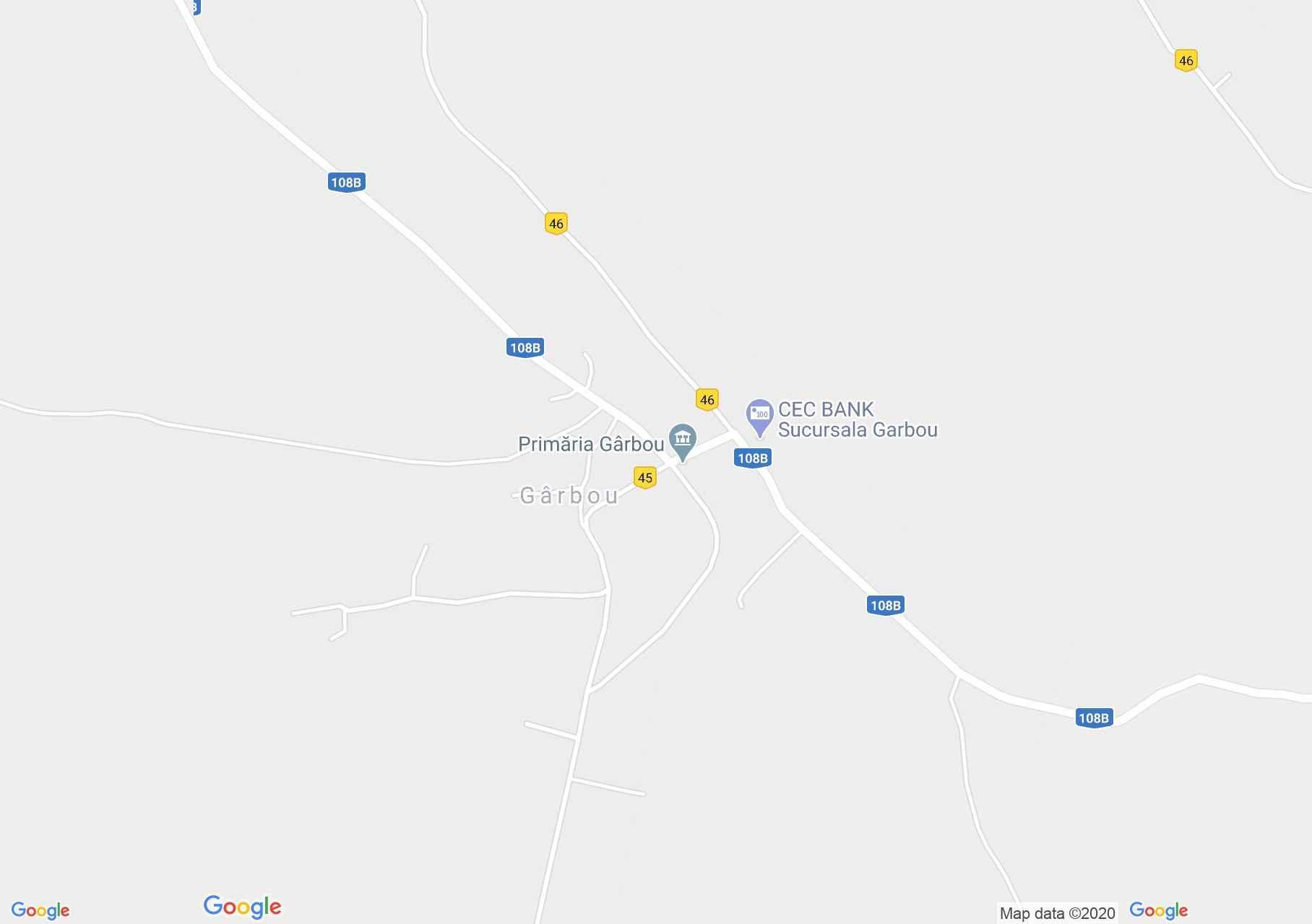 Gîrbău, Harta turistică interactivă