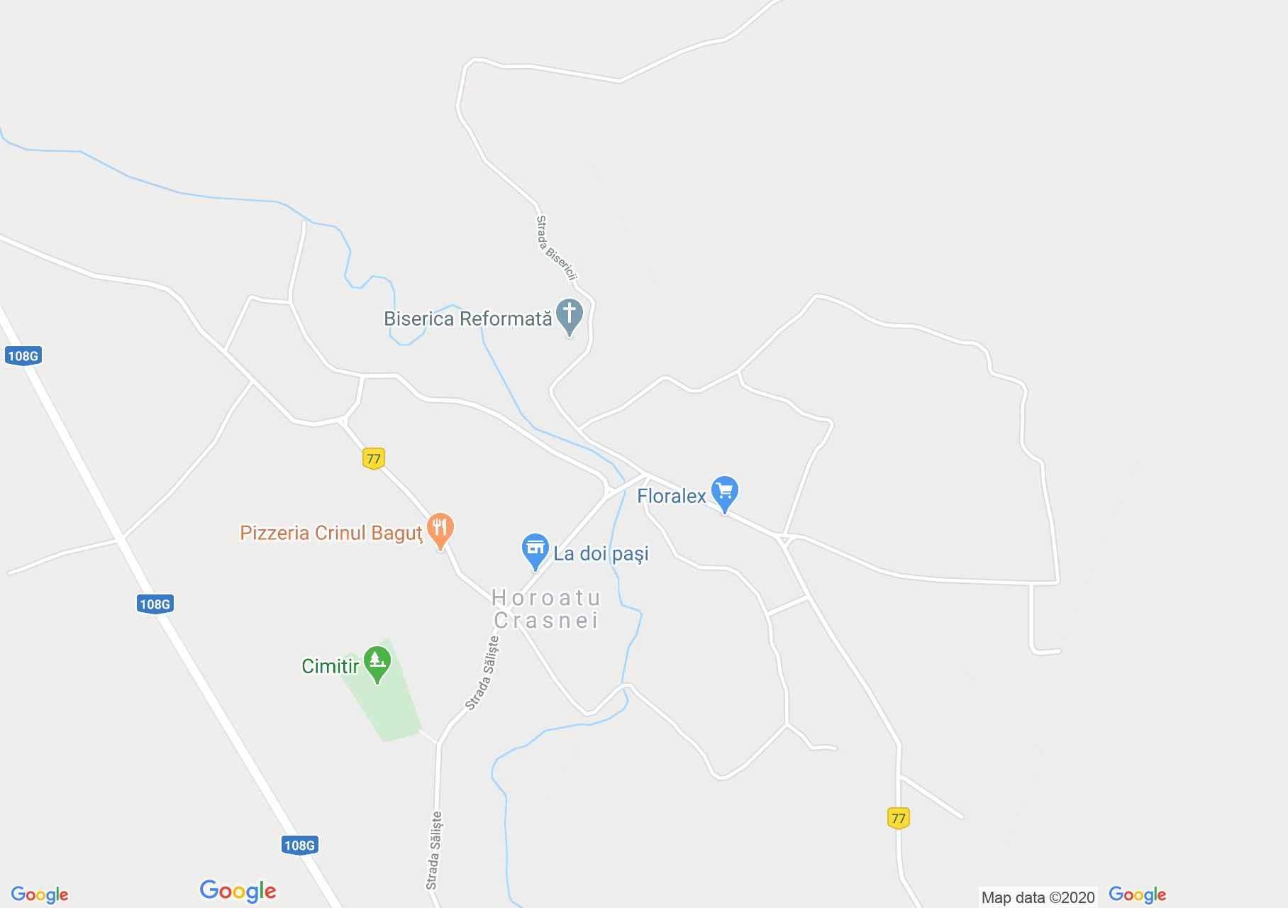 Krasznahorvát interaktív turista térképe.