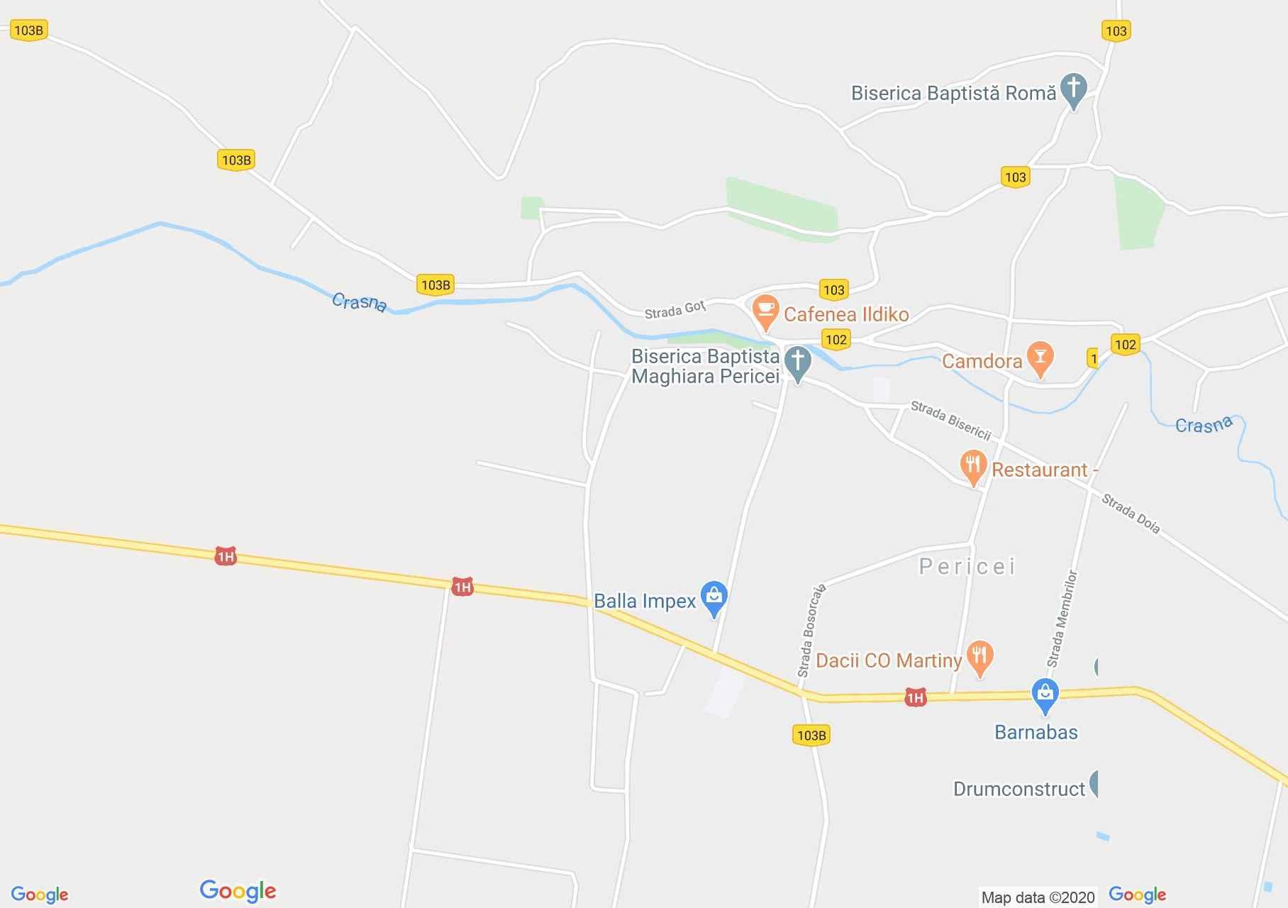 Pericei, Harta turistică interactivă