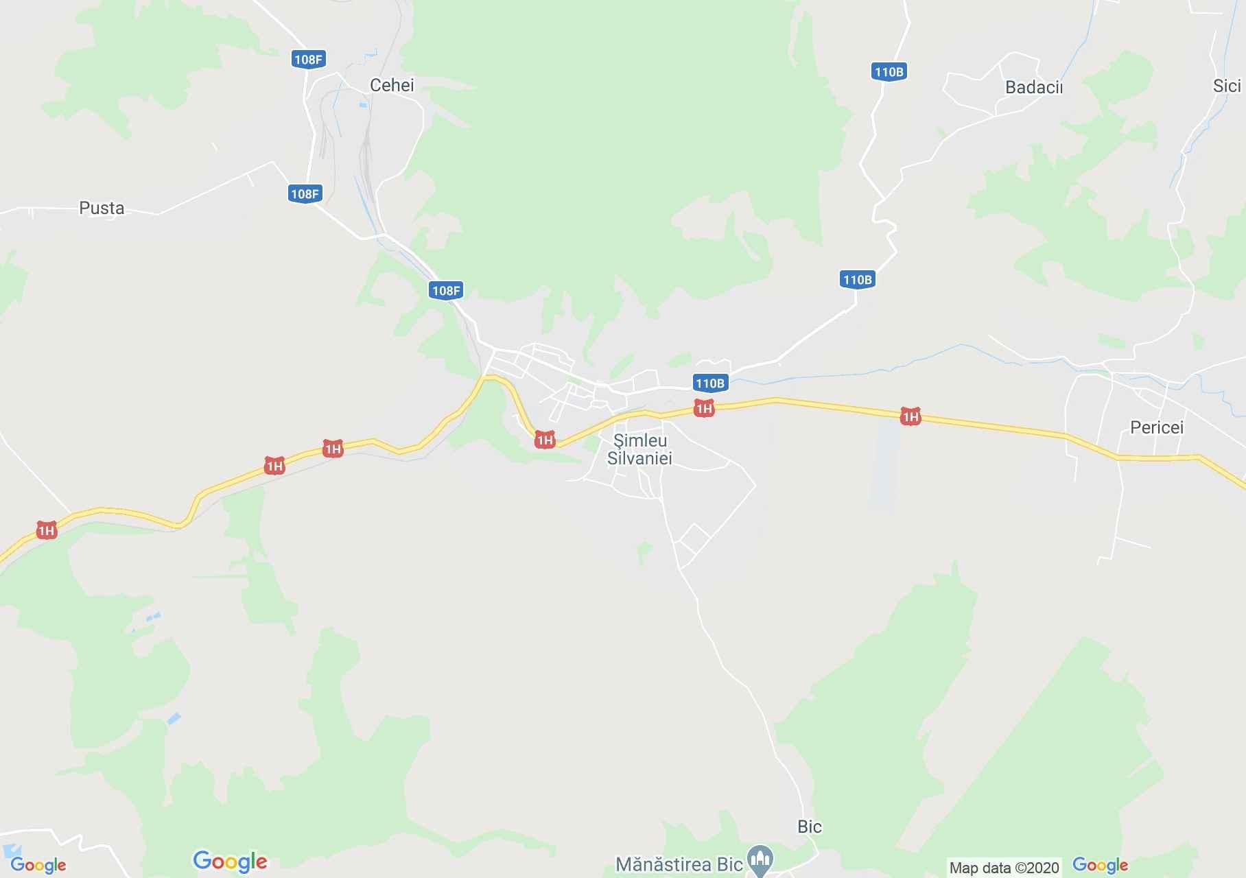 Şimleu Silvaniei, Harta turistică interactivă