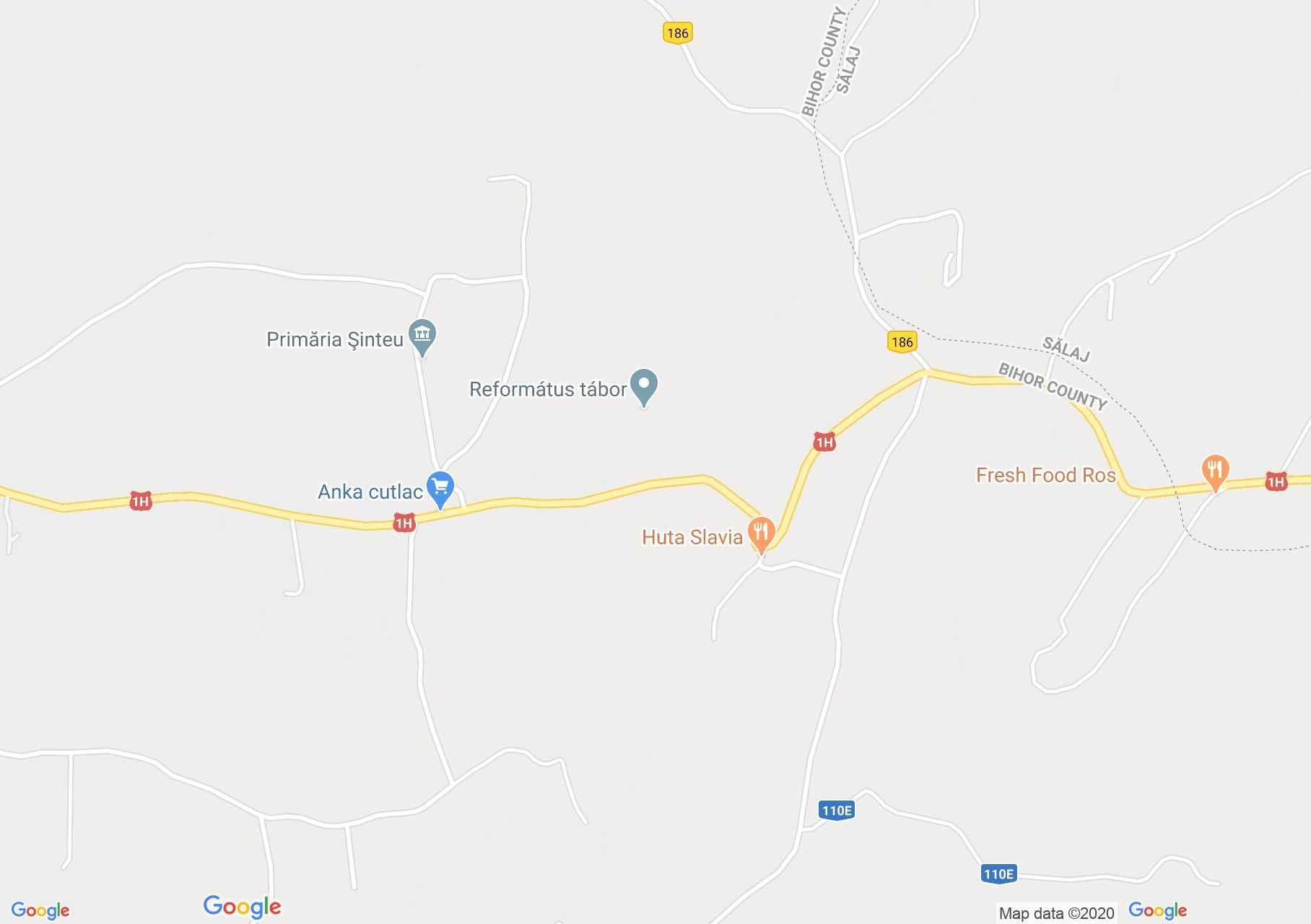 Şinteu, Harta turistică interactivă