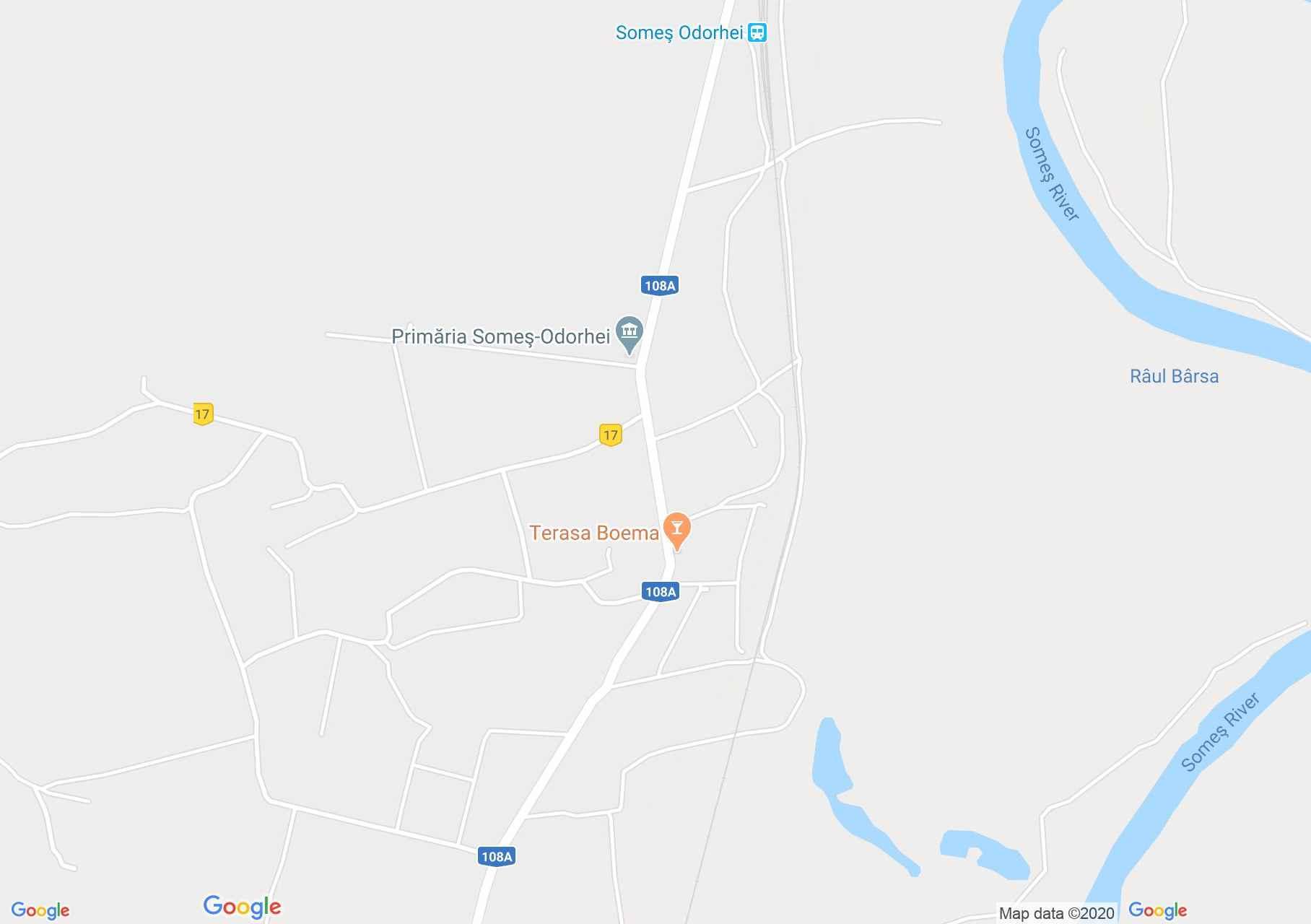 Szamosudvarhely interaktív turista térképe.
