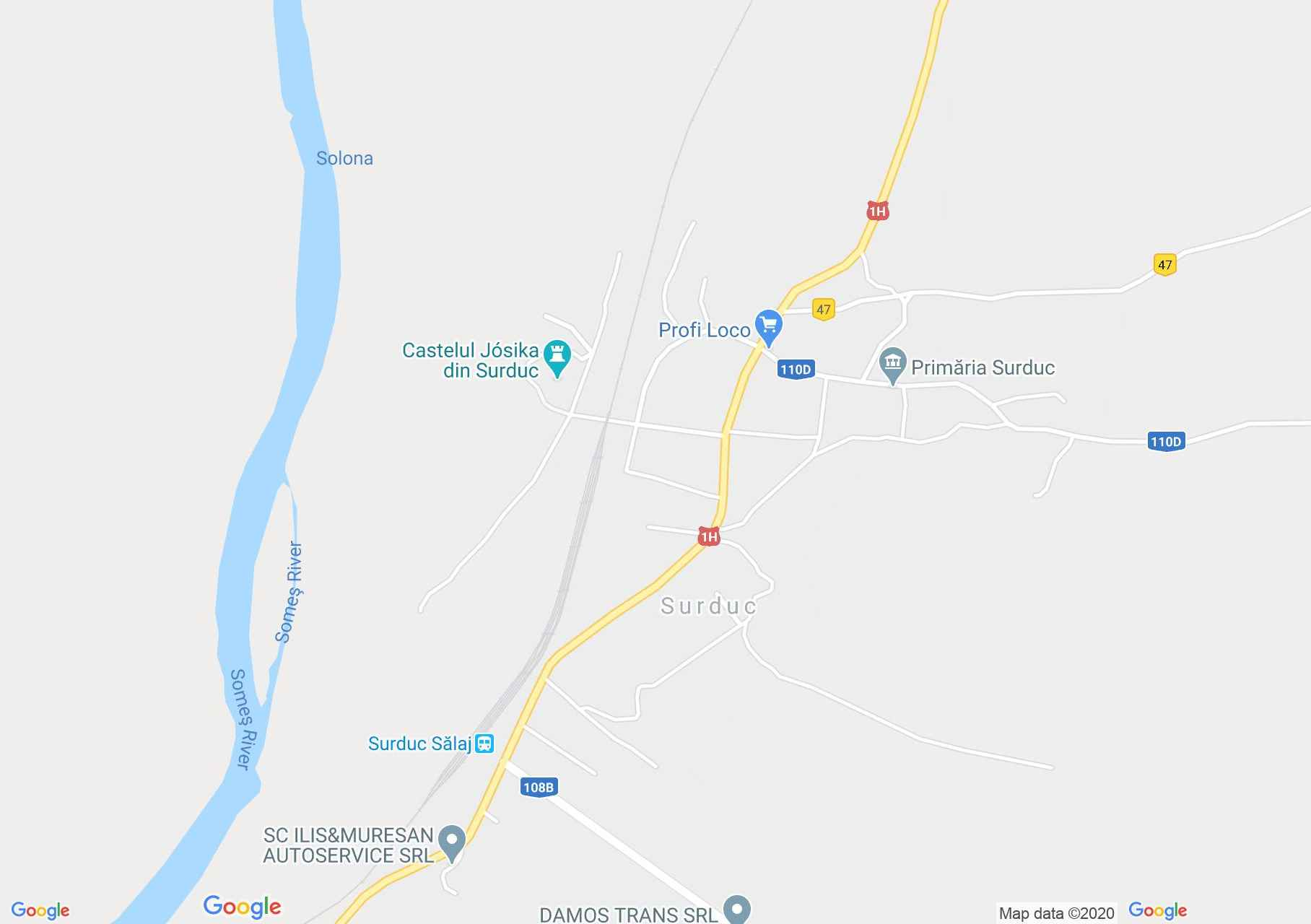 Surduc, Harta turistică interactivă