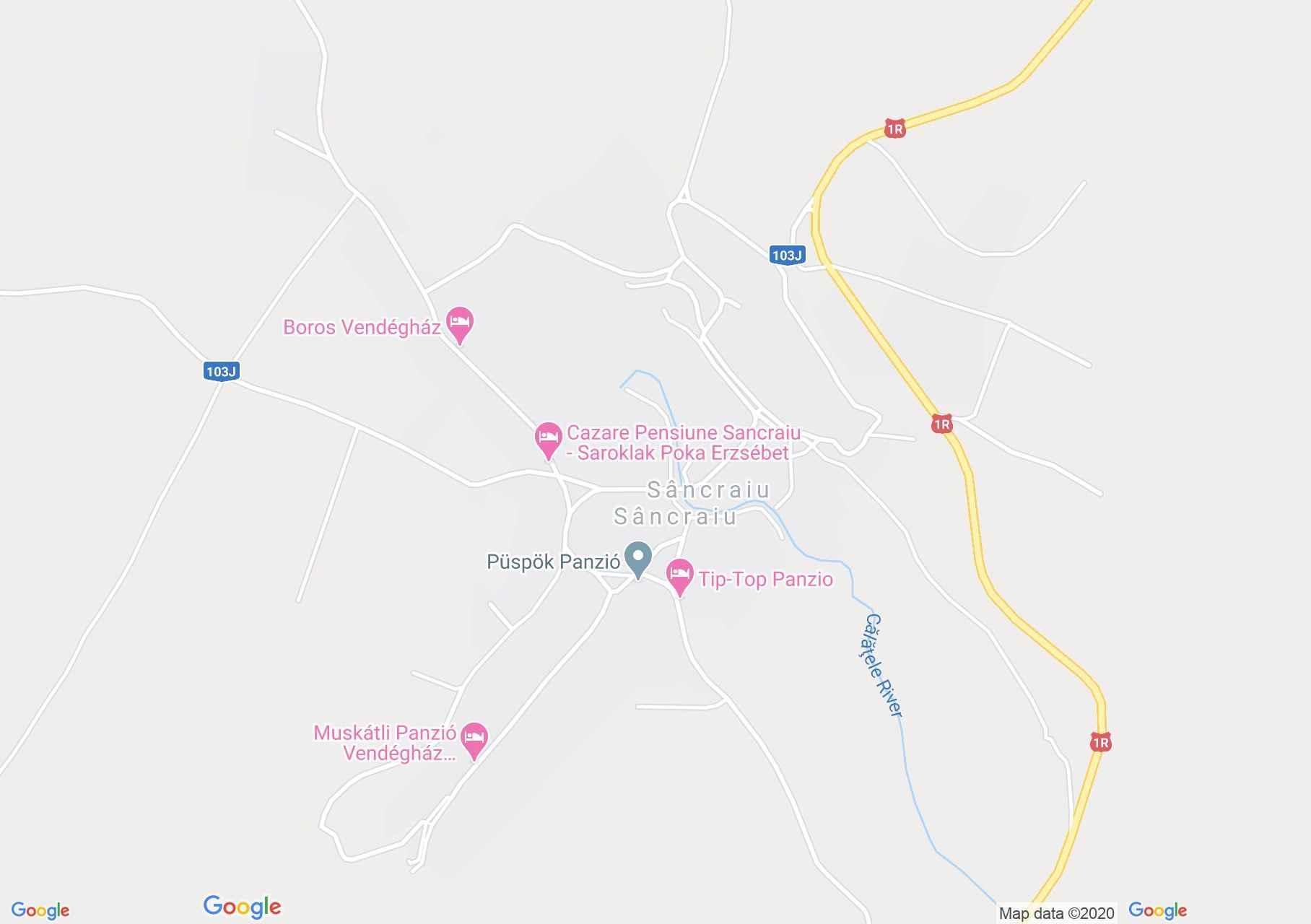 Kalotaszentkirály interaktív turista térképe.