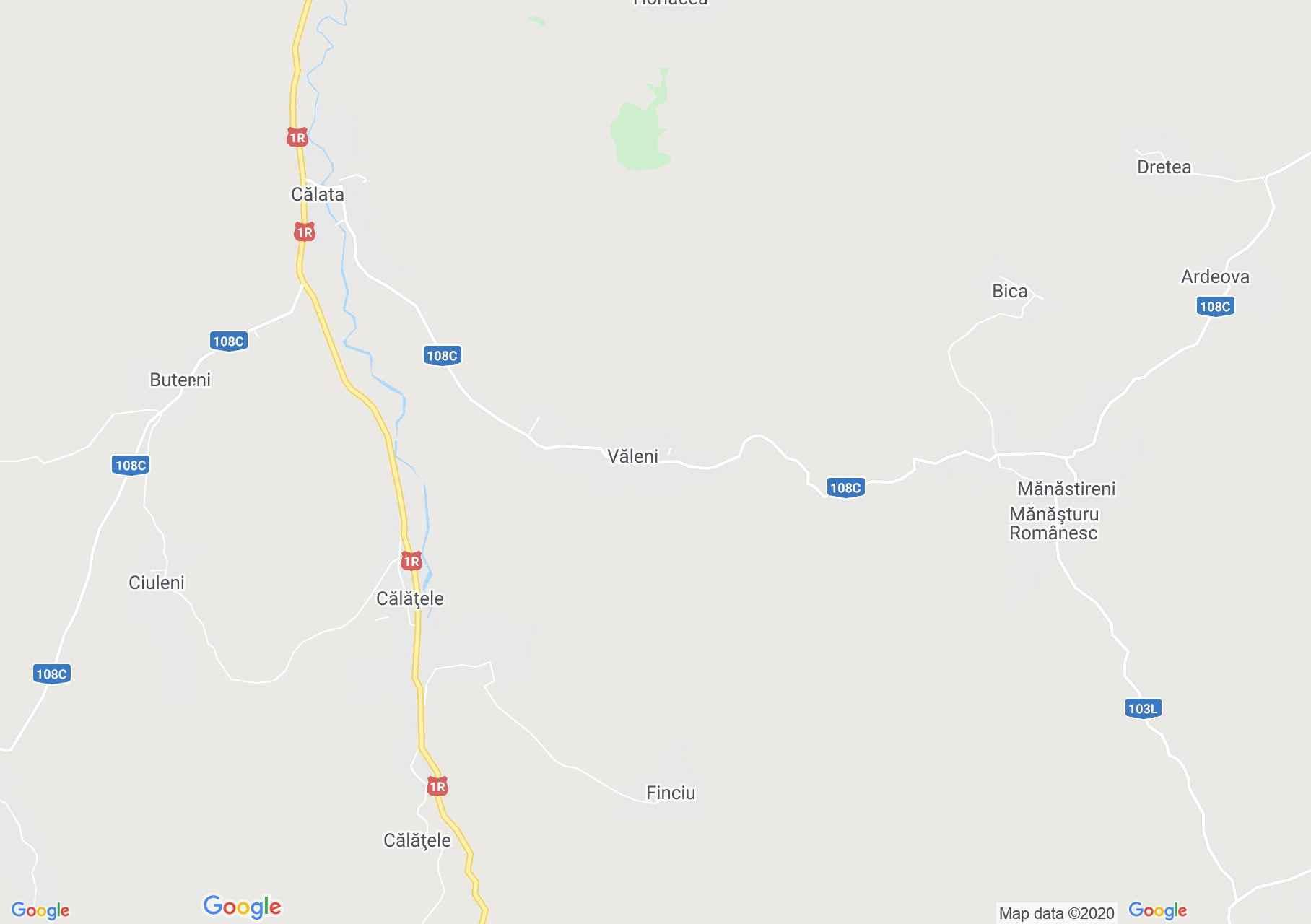 Văleni, Harta turistică interactivă
