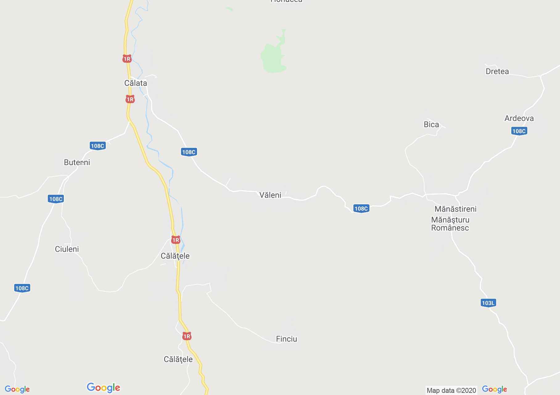 Văleni, Interactive tourist map