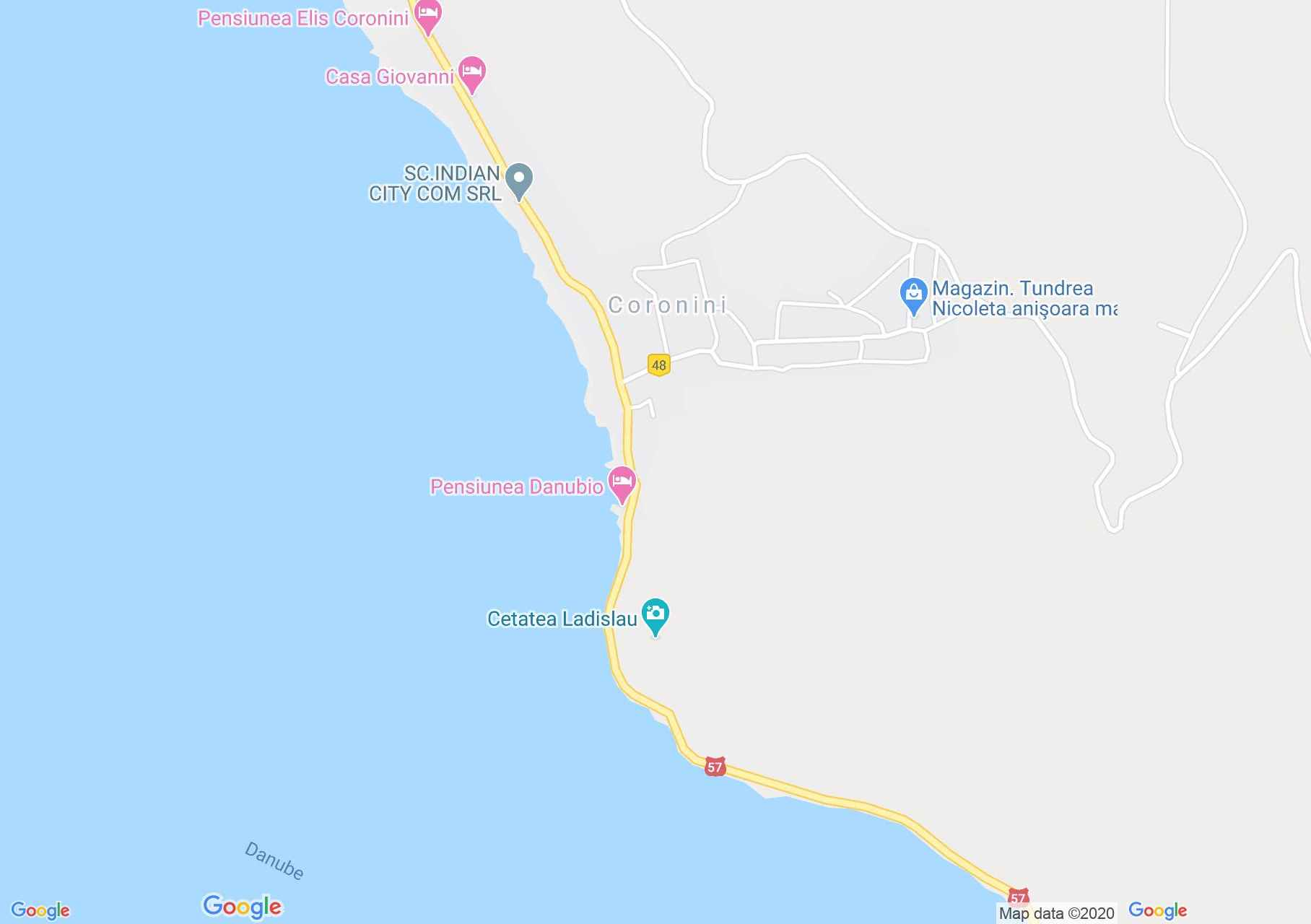 Coronini, Harta turistică interactivă