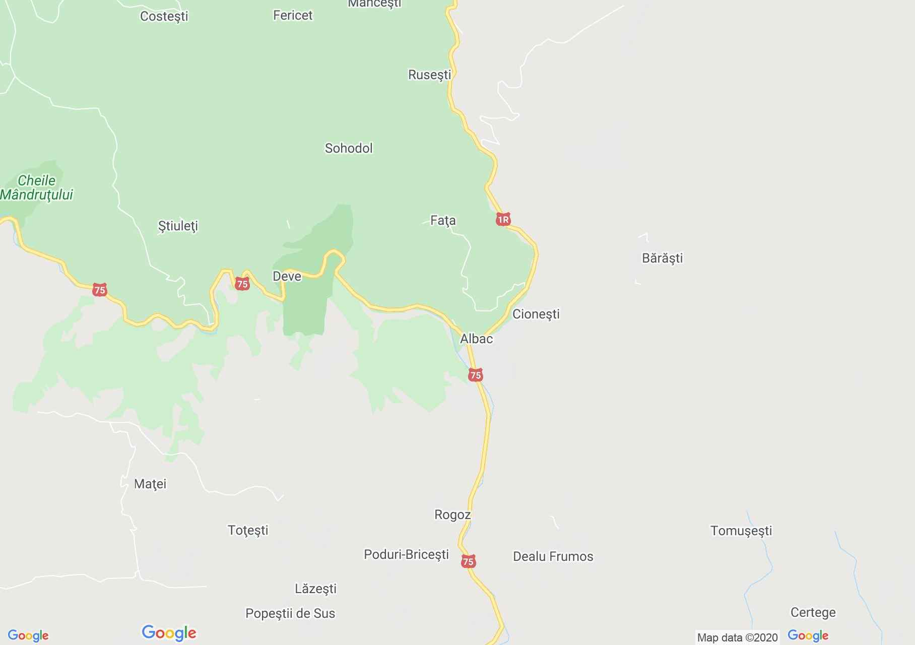 Albac, Interactive tourist map