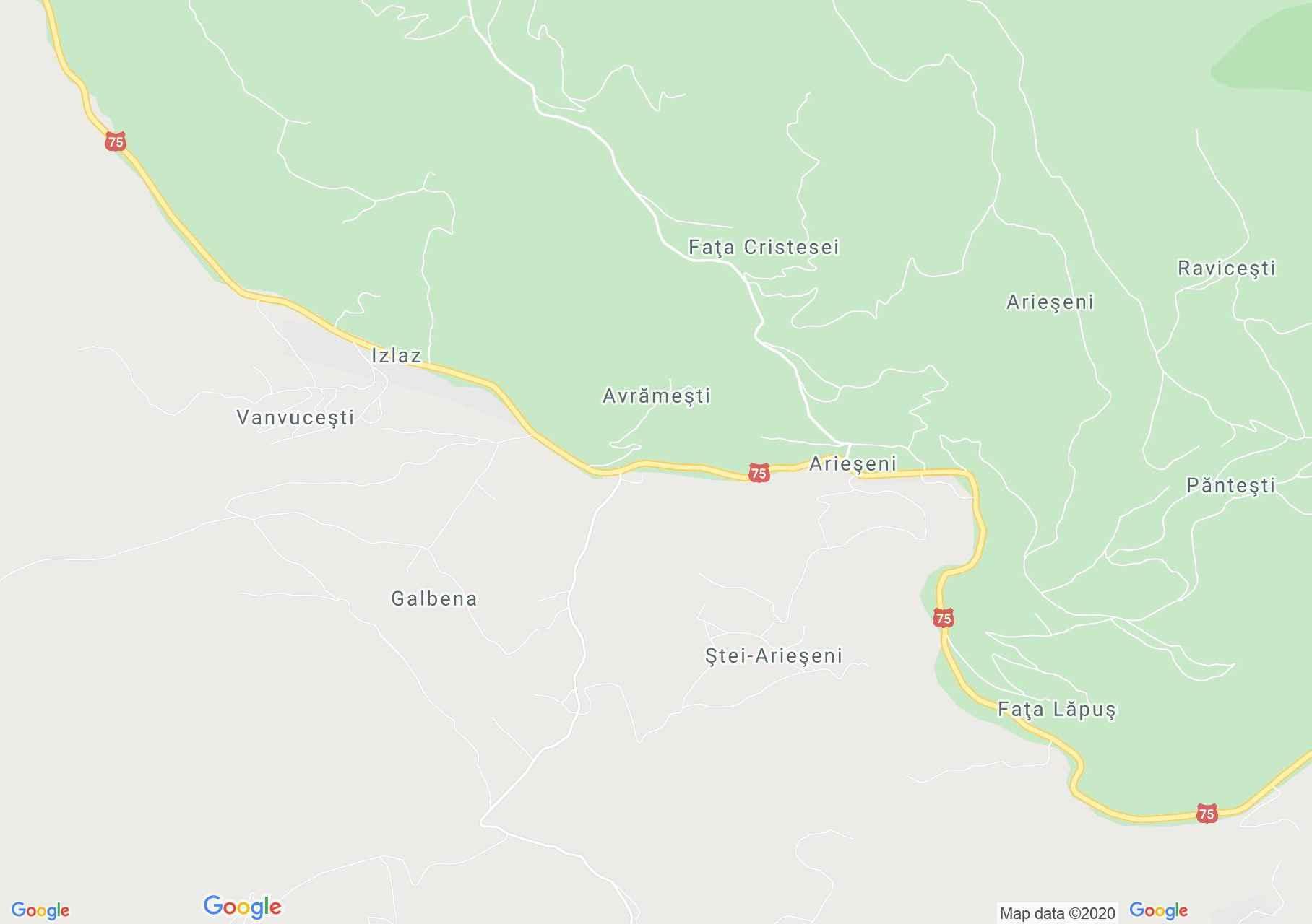 Arieşeni, Harta turistică interactivă