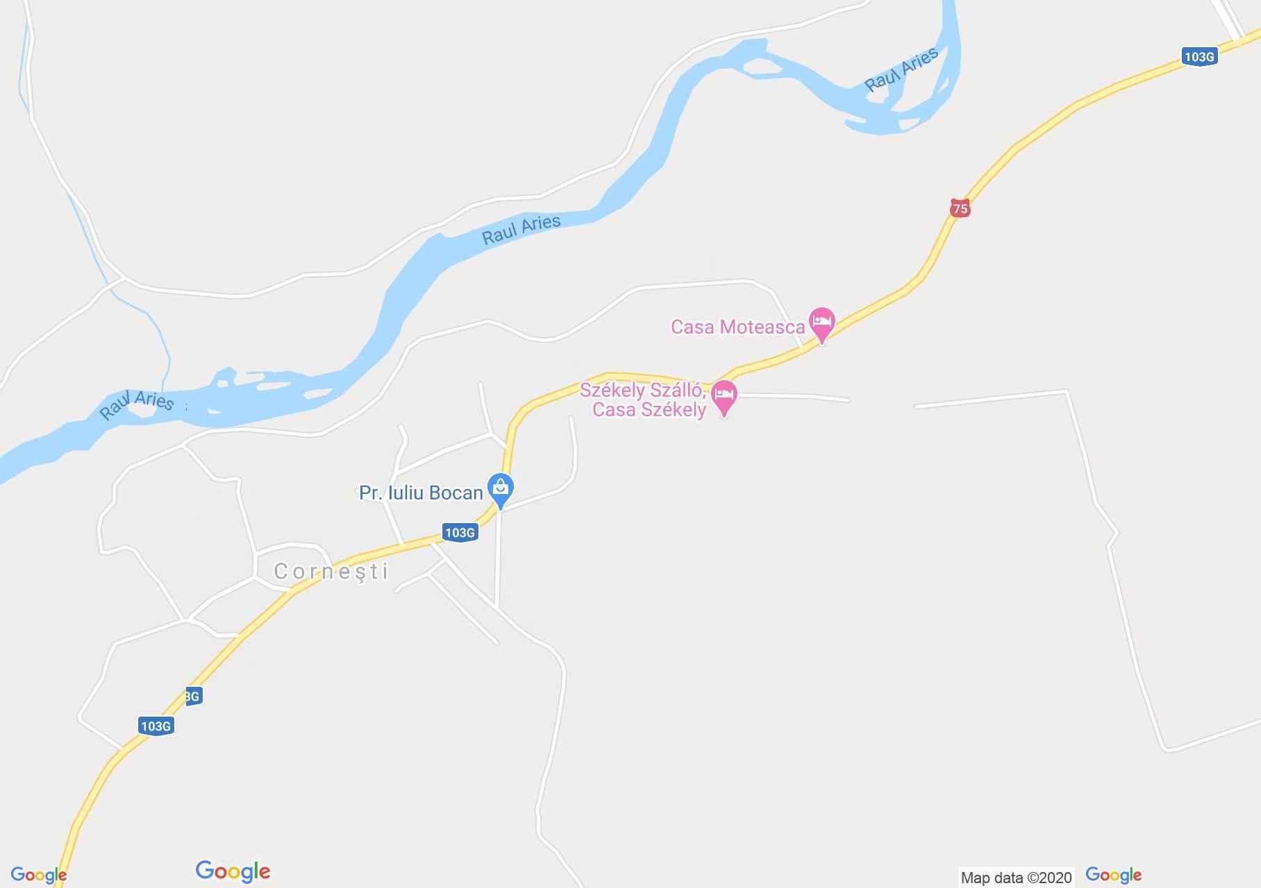Corneşti, Harta turistică interactivă
