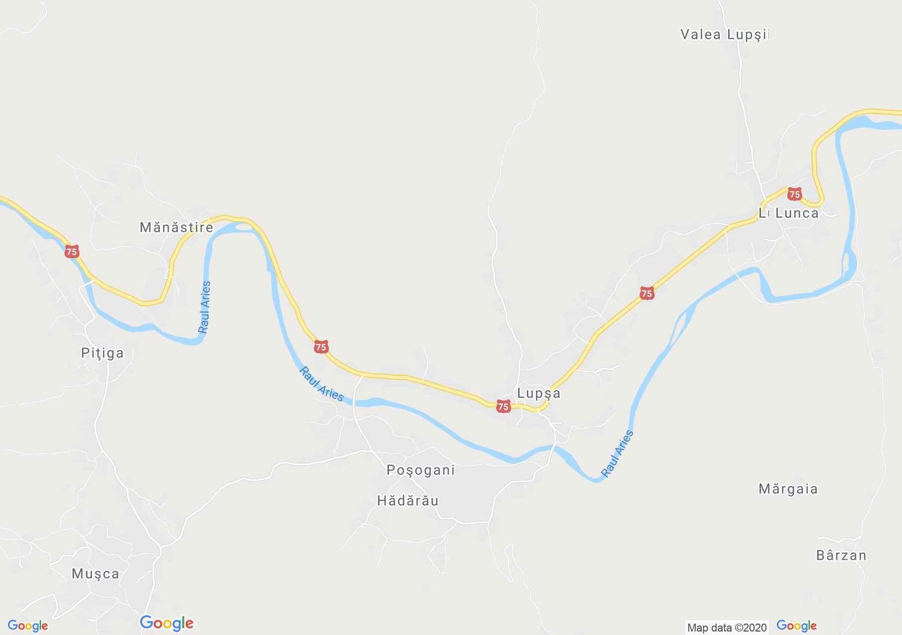 Lupşa, Harta turistică interactivă