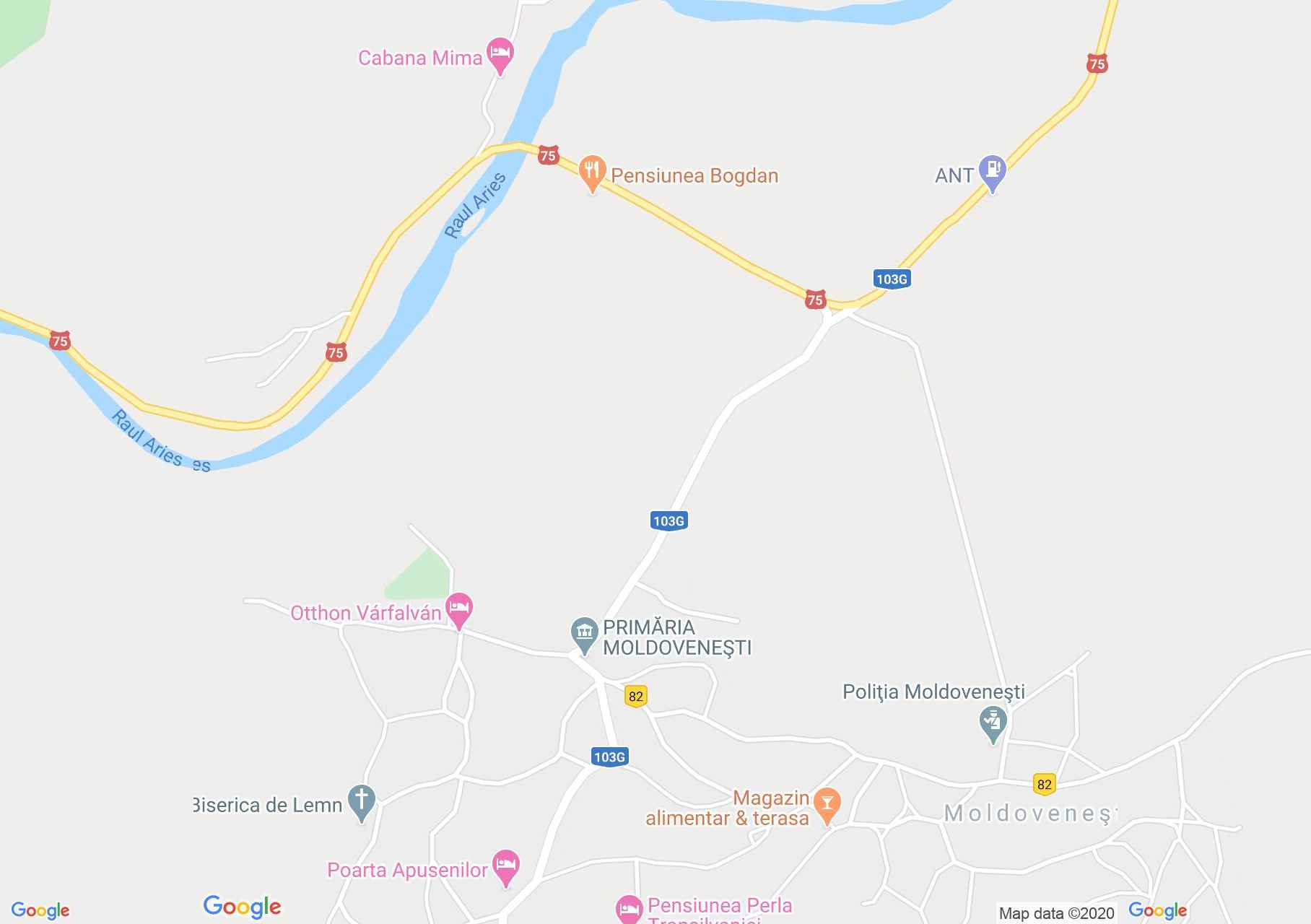Moldoveneşti, Harta turistică interactivă