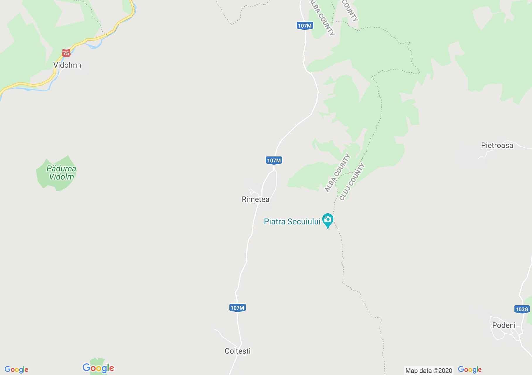 Rimetea, Interactive tourist map