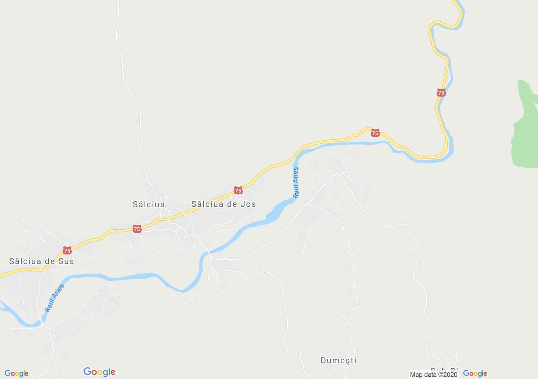 Sălciua de Jos, Interactive tourist map