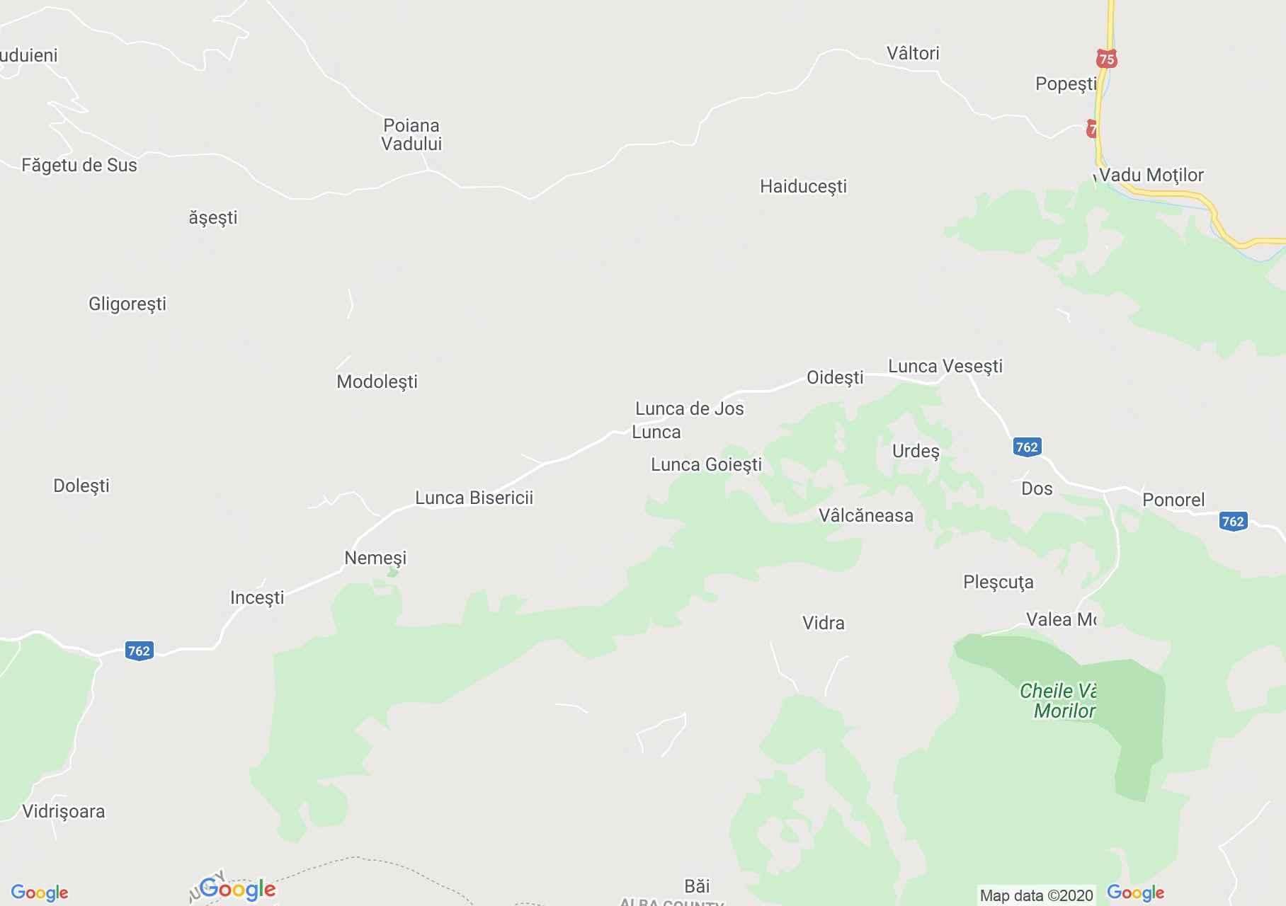 Vidra, Interactive tourist map